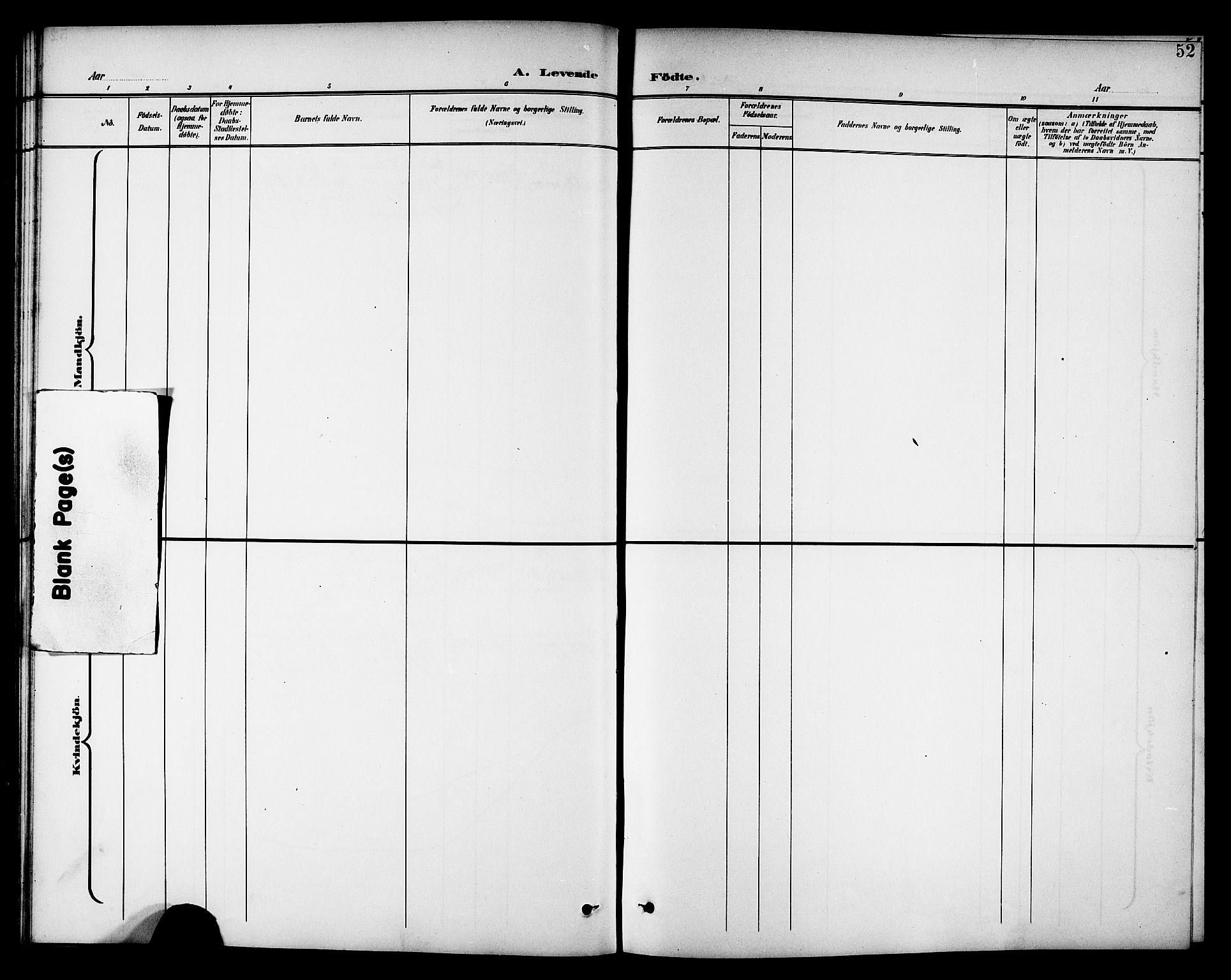 SAT, Ministerialprotokoller, klokkerbøker og fødselsregistre - Nord-Trøndelag, 742/L0412: Klokkerbok nr. 742C03, 1898-1910, s. 52