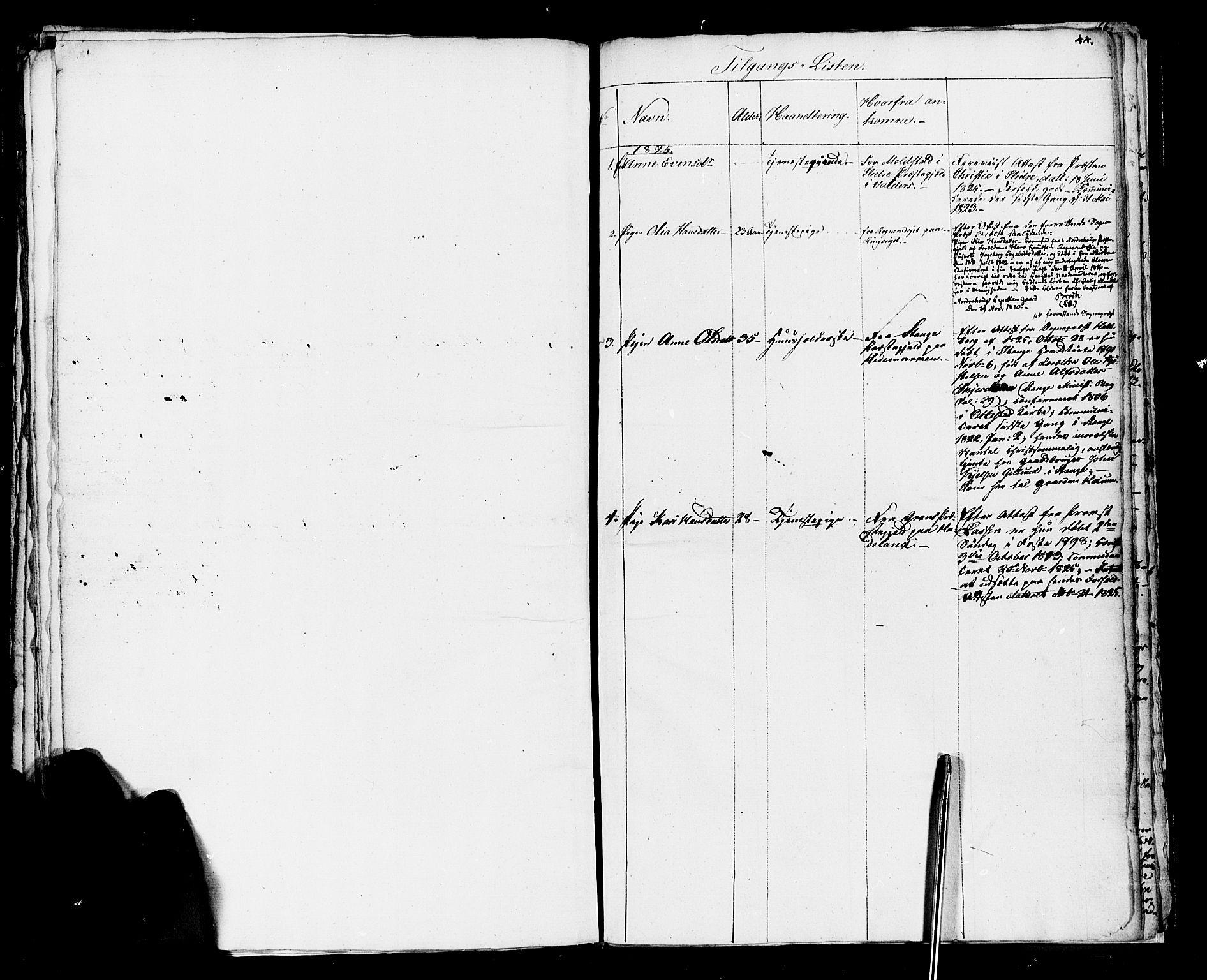 SAH, Vestre Toten prestekontor, H/Ha/Haa/L0001: Ministerialbok nr. 1, 1825-1826, s. 44
