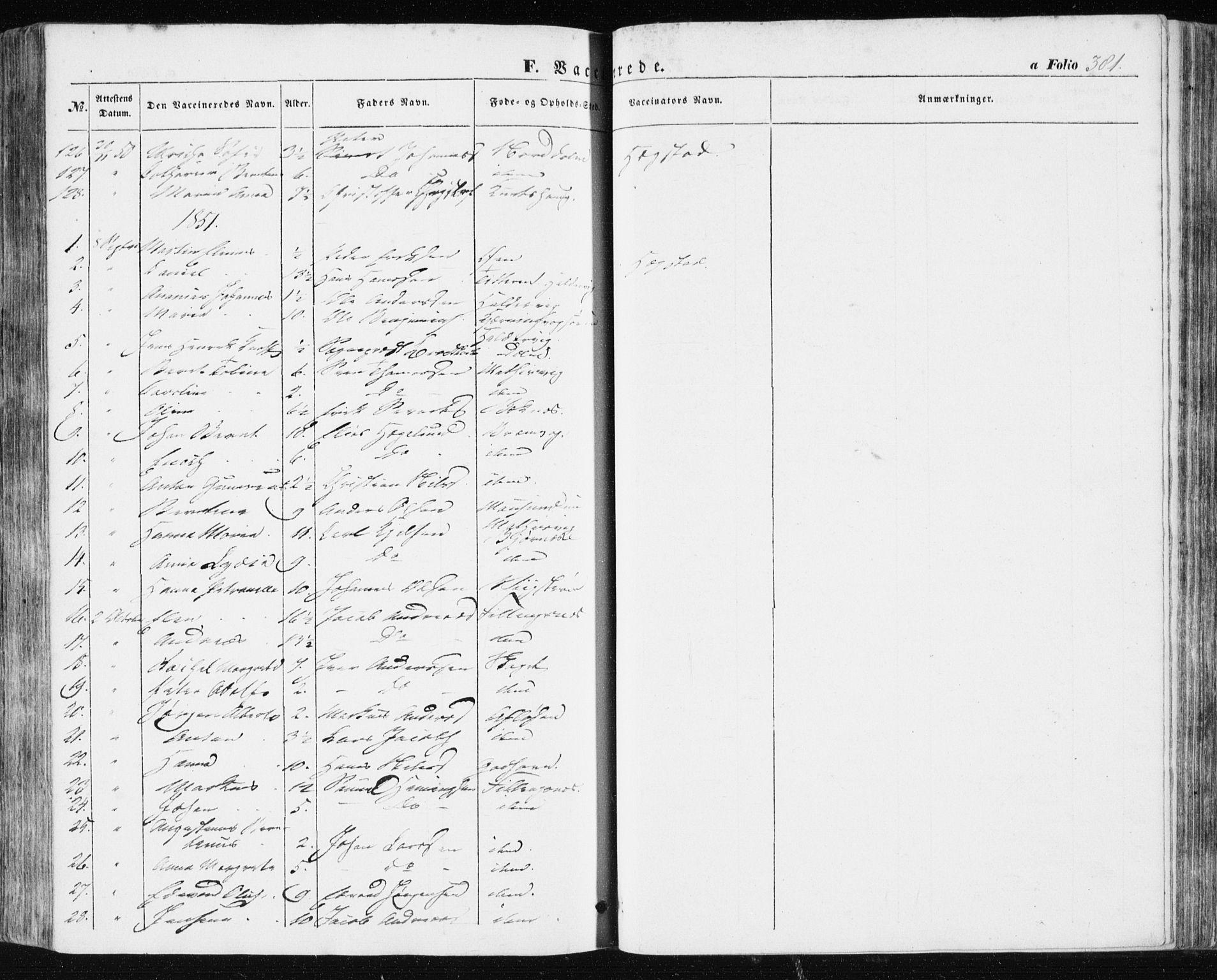 SAT, Ministerialprotokoller, klokkerbøker og fødselsregistre - Sør-Trøndelag, 634/L0529: Ministerialbok nr. 634A05, 1843-1851, s. 381