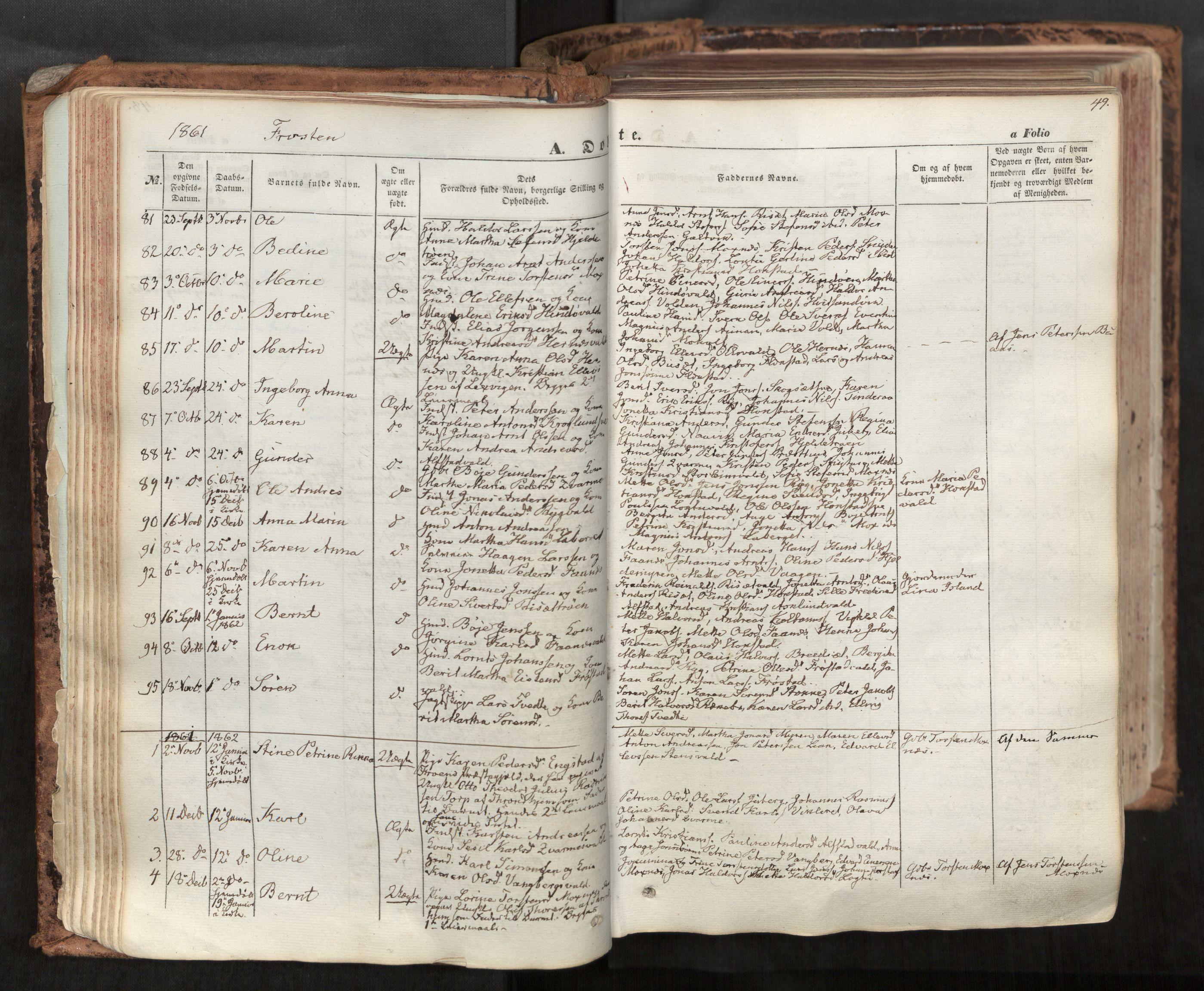 SAT, Ministerialprotokoller, klokkerbøker og fødselsregistre - Nord-Trøndelag, 713/L0116: Ministerialbok nr. 713A07, 1850-1877, s. 49