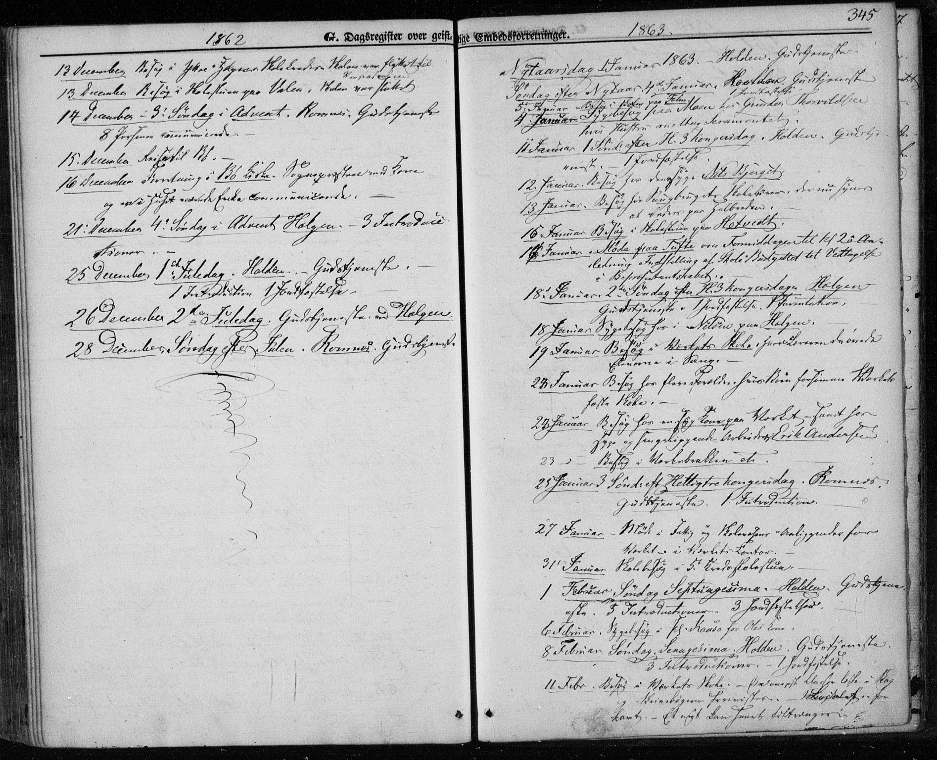 SAKO, Holla kirkebøker, F/Fa/L0006: Ministerialbok nr. 6, 1861-1869, s. 345
