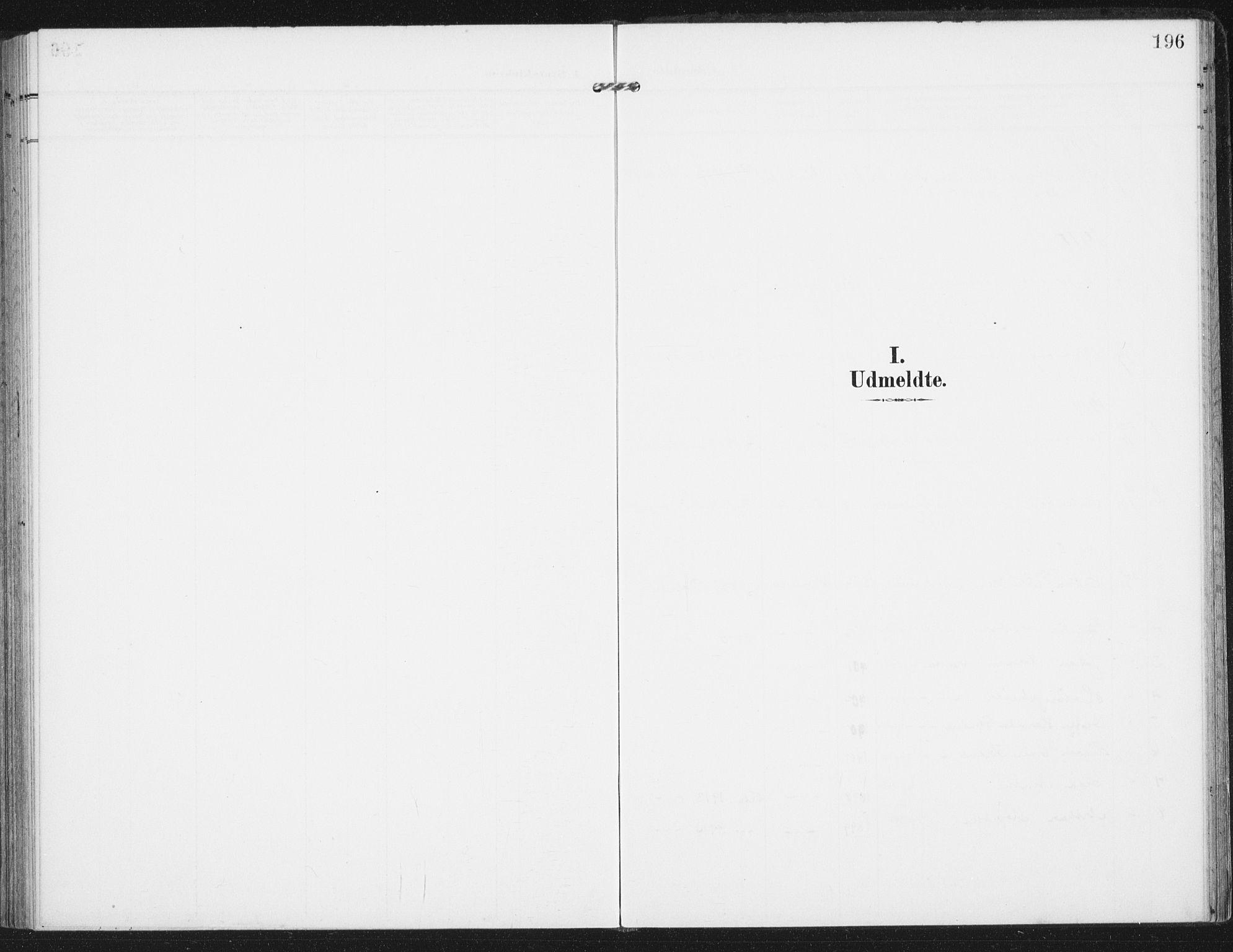 SAT, Ministerialprotokoller, klokkerbøker og fødselsregistre - Nordland, 885/L1206: Ministerialbok nr. 885A07, 1905-1915, s. 196