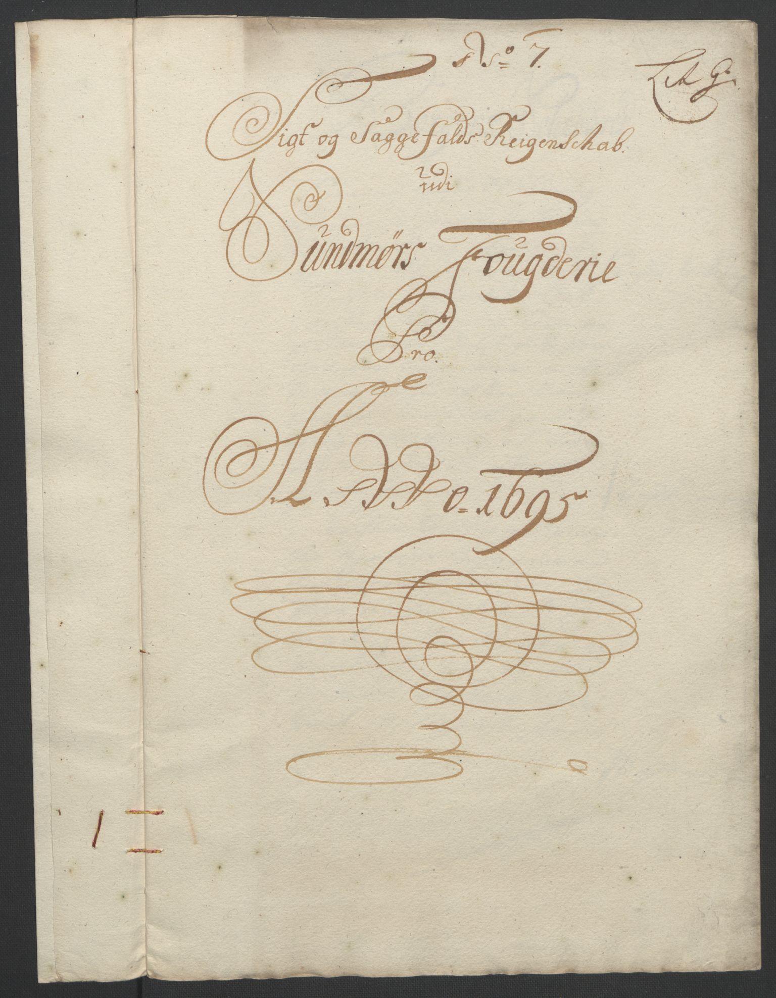 RA, Rentekammeret inntil 1814, Reviderte regnskaper, Fogderegnskap, R54/L3555: Fogderegnskap Sunnmøre, 1694-1695, s. 296