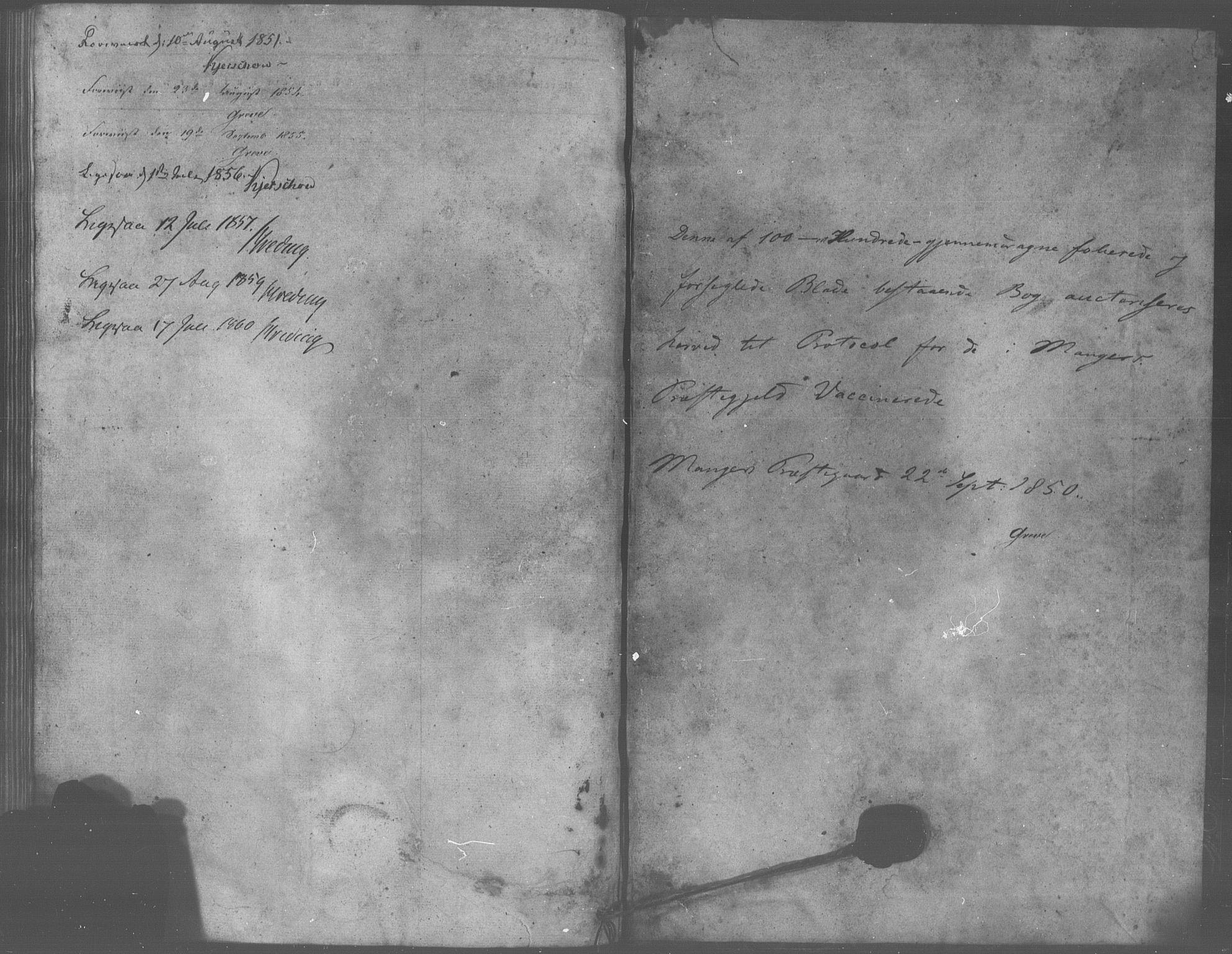 SAB, Manger sokneprestembete, H/Haa: Ministerialbok nr. A 10, 1844-1859