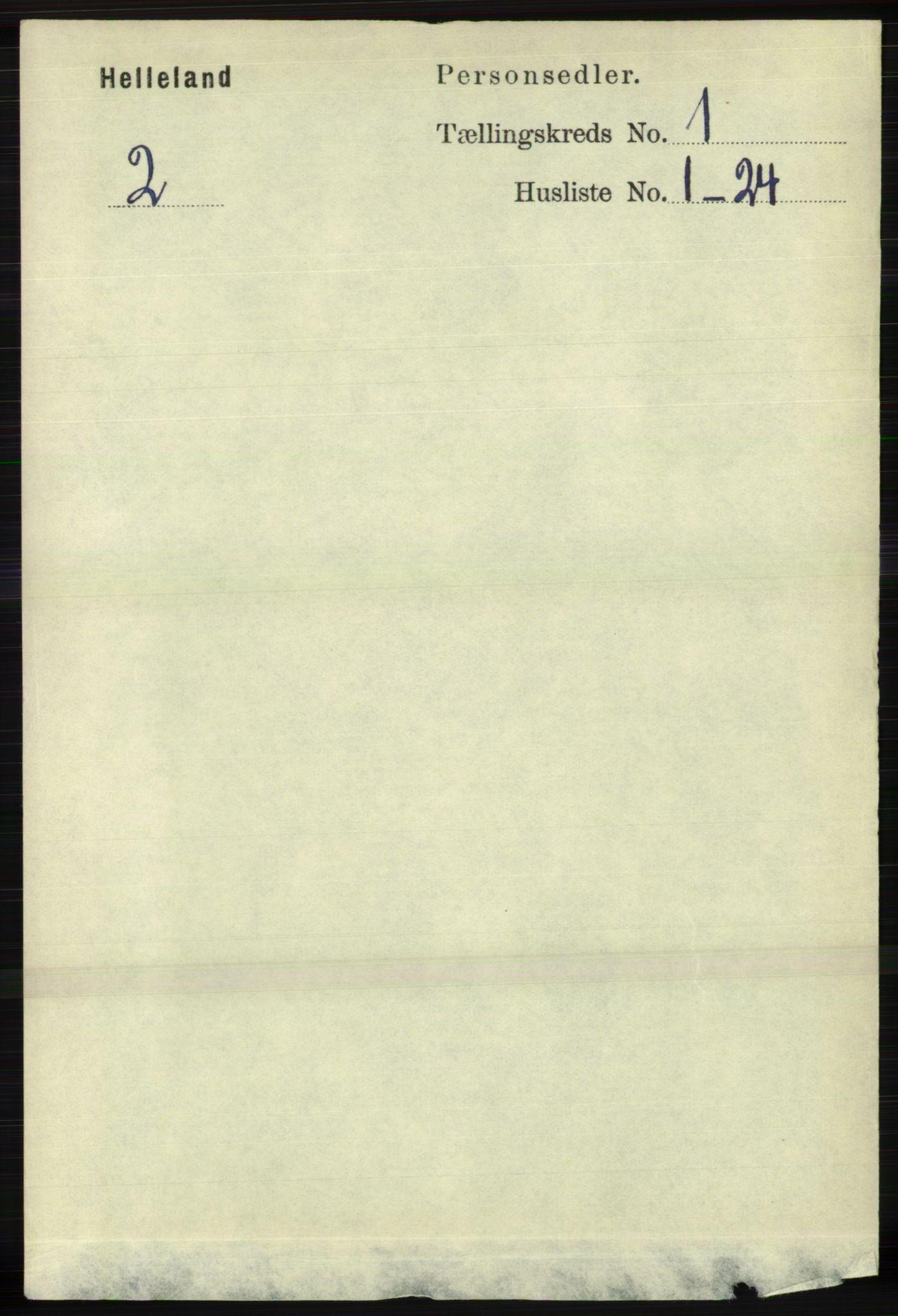RA, Folketelling 1891 for 1115 Helleland herred, 1891, s. 66