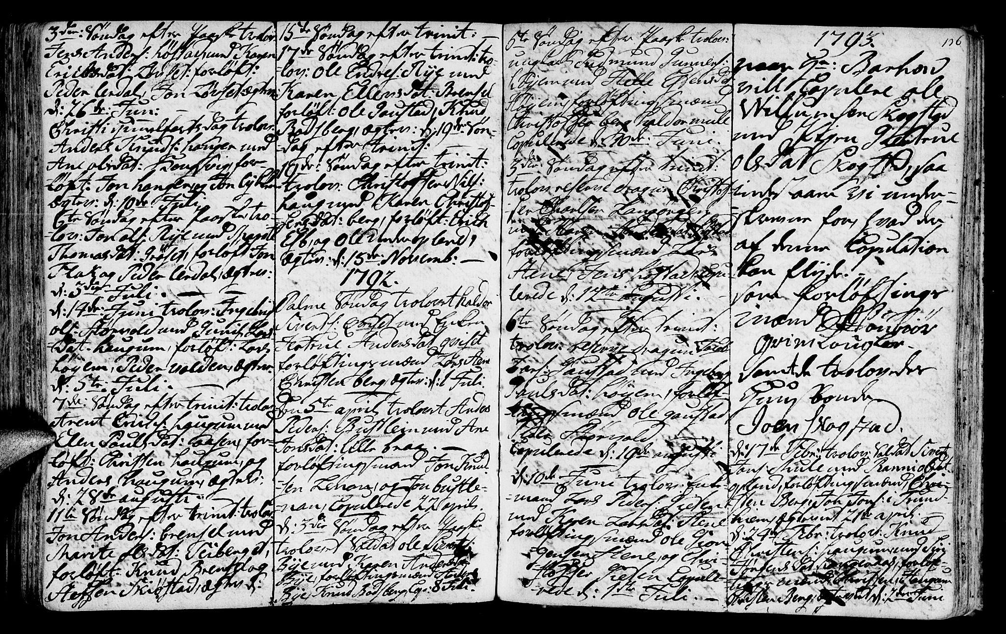 SAT, Ministerialprotokoller, klokkerbøker og fødselsregistre - Sør-Trøndelag, 612/L0370: Ministerialbok nr. 612A04, 1754-1802, s. 136