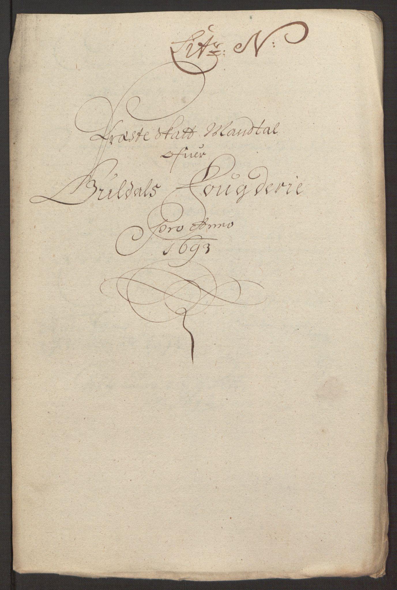 RA, Rentekammeret inntil 1814, Reviderte regnskaper, Fogderegnskap, R59/L3943: Fogderegnskap Gauldal, 1693, s. 148