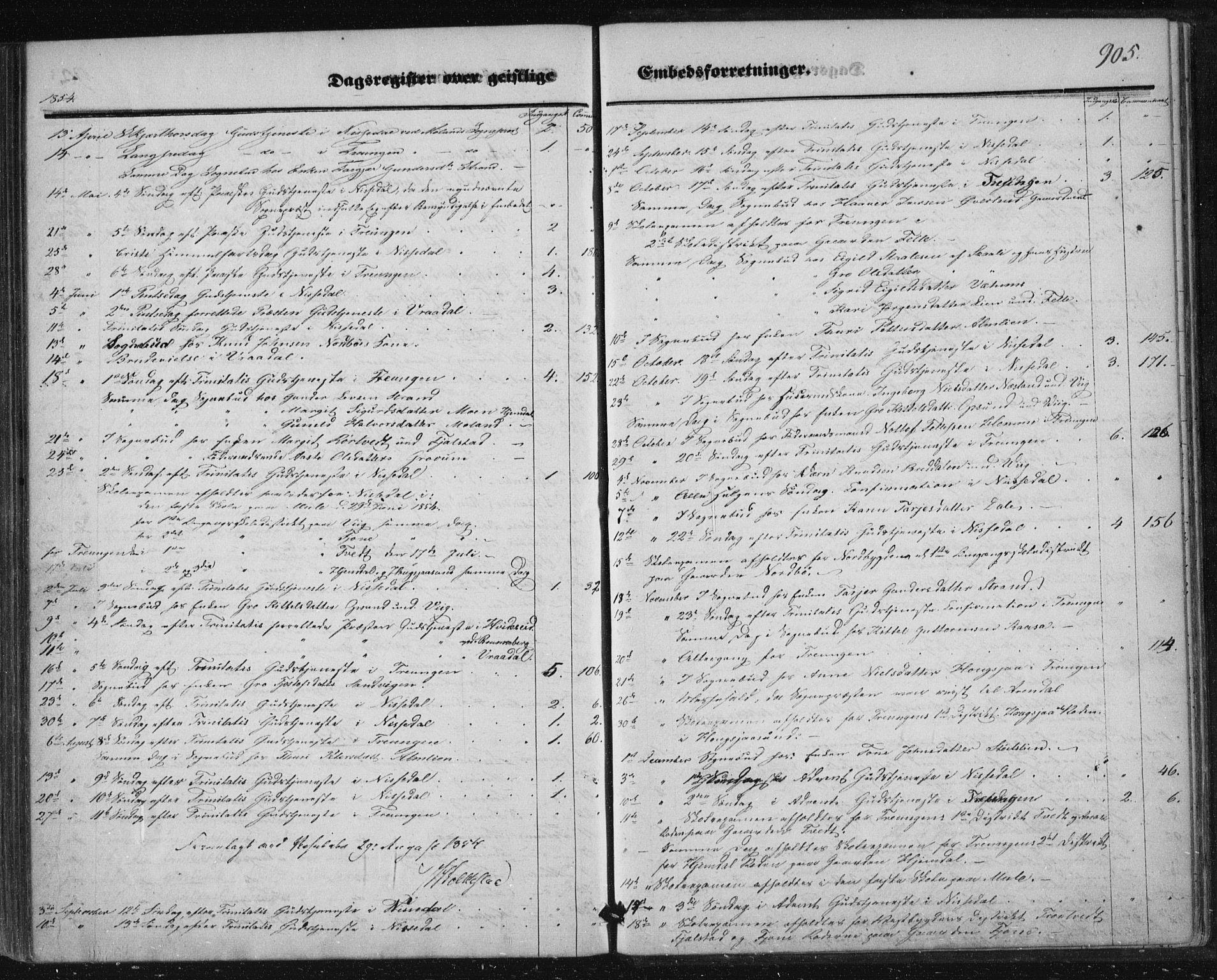 SAKO, Nissedal kirkebøker, F/Fa/L0003: Ministerialbok nr. I 3, 1846-1870, s. 904-905