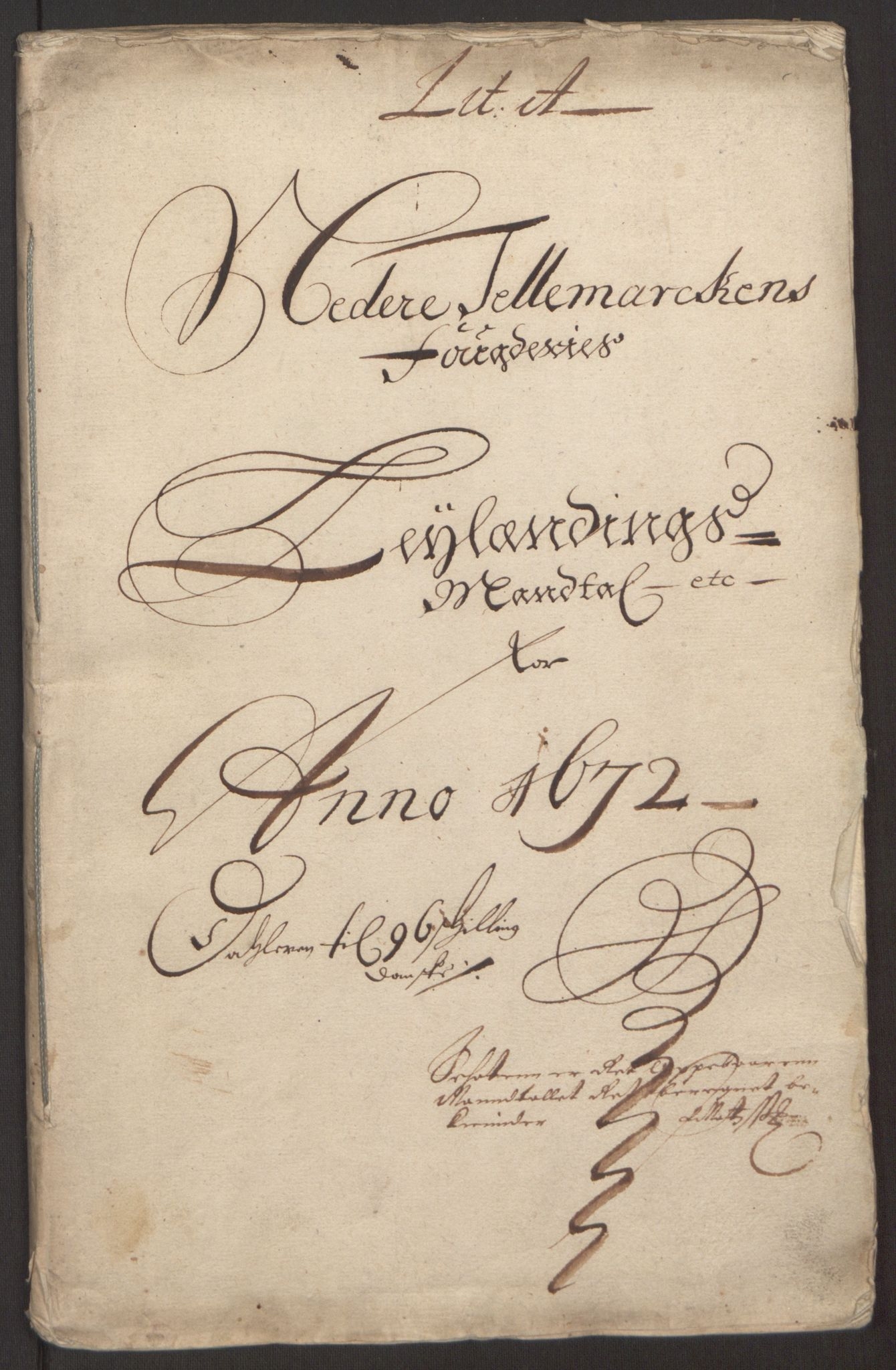 RA, Rentekammeret inntil 1814, Reviderte regnskaper, Fogderegnskap, R35/L2060: Fogderegnskap Øvre og Nedre Telemark, 1671-1672, s. 227