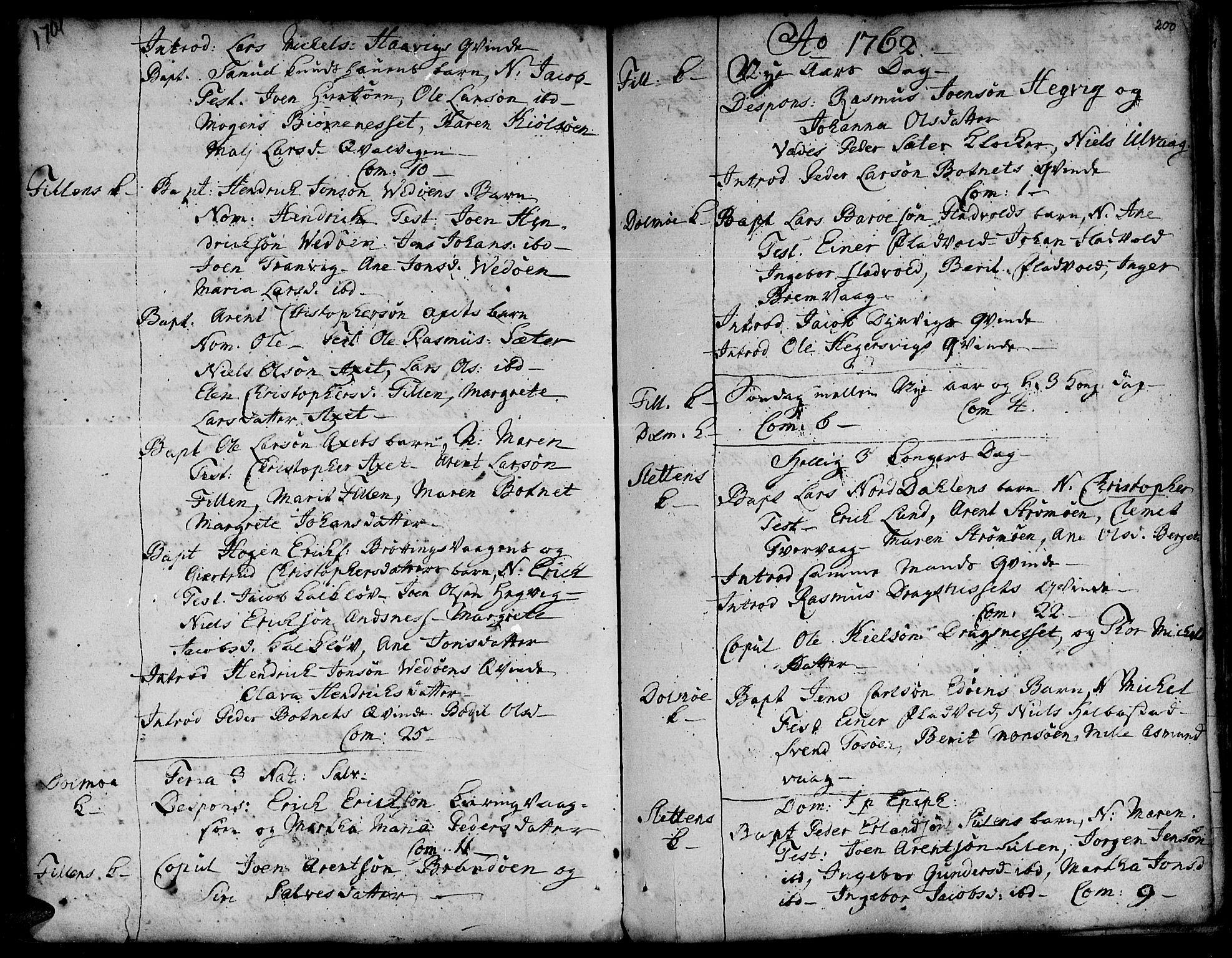 SAT, Ministerialprotokoller, klokkerbøker og fødselsregistre - Sør-Trøndelag, 634/L0525: Ministerialbok nr. 634A01, 1736-1775, s. 200