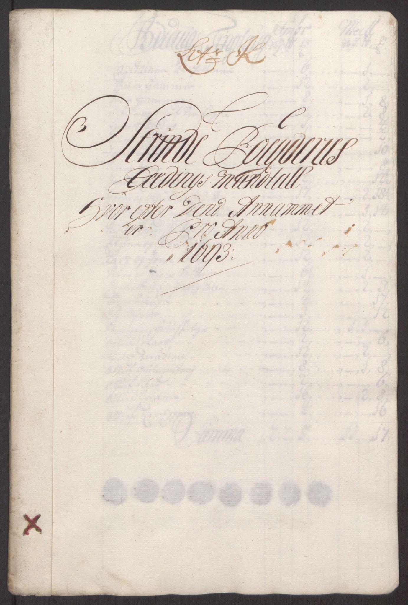 RA, Rentekammeret inntil 1814, Reviderte regnskaper, Fogderegnskap, R61/L4104: Fogderegnskap Strinda og Selbu, 1693-1694, s. 110