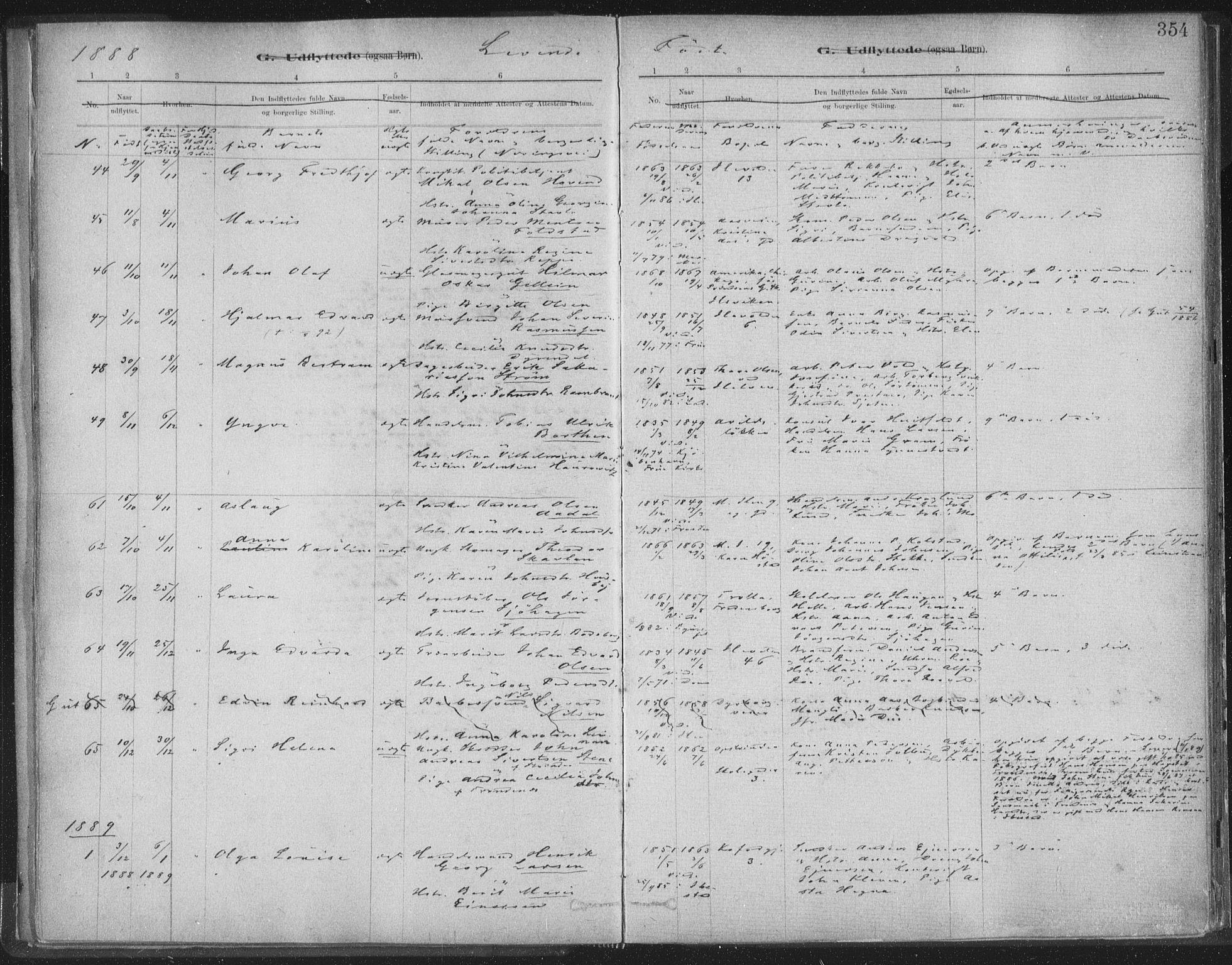 SAT, Ministerialprotokoller, klokkerbøker og fødselsregistre - Sør-Trøndelag, 603/L0163: Ministerialbok nr. 603A02, 1879-1895, s. 354