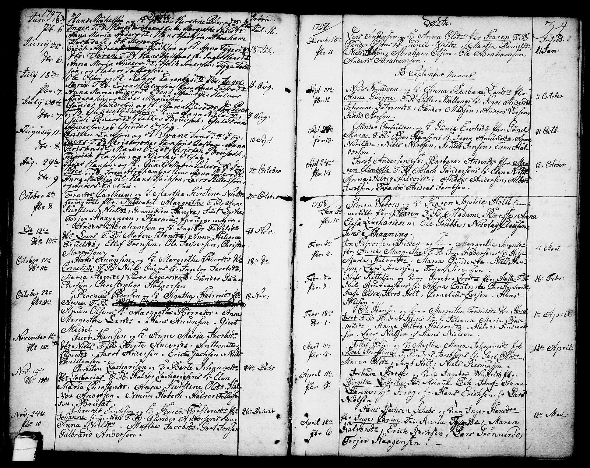 SAKO, Brevik kirkebøker, F/Fa/L0003: Ministerialbok nr. 3, 1764-1814, s. 34
