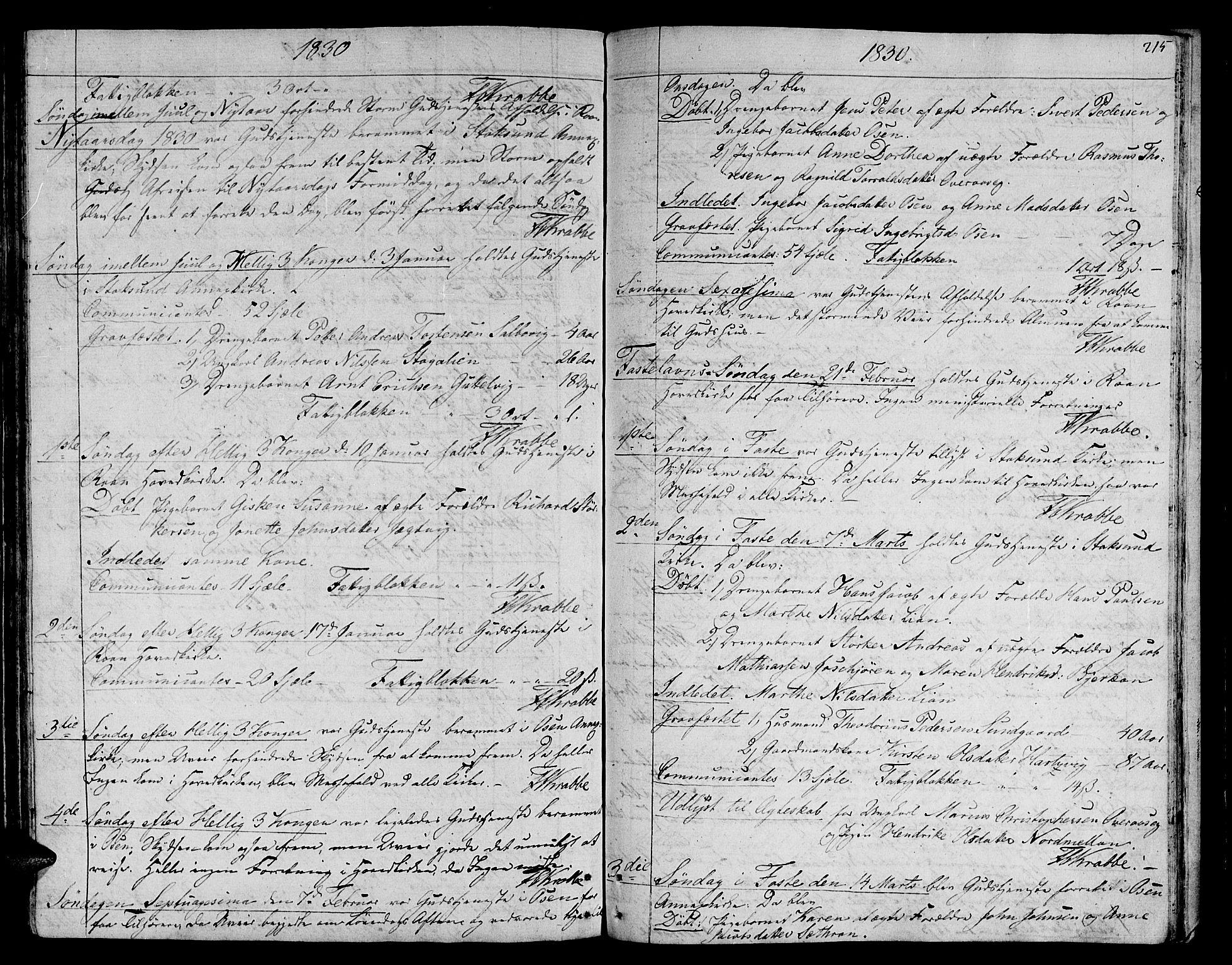 SAT, Ministerialprotokoller, klokkerbøker og fødselsregistre - Sør-Trøndelag, 657/L0701: Ministerialbok nr. 657A02, 1802-1831, s. 215