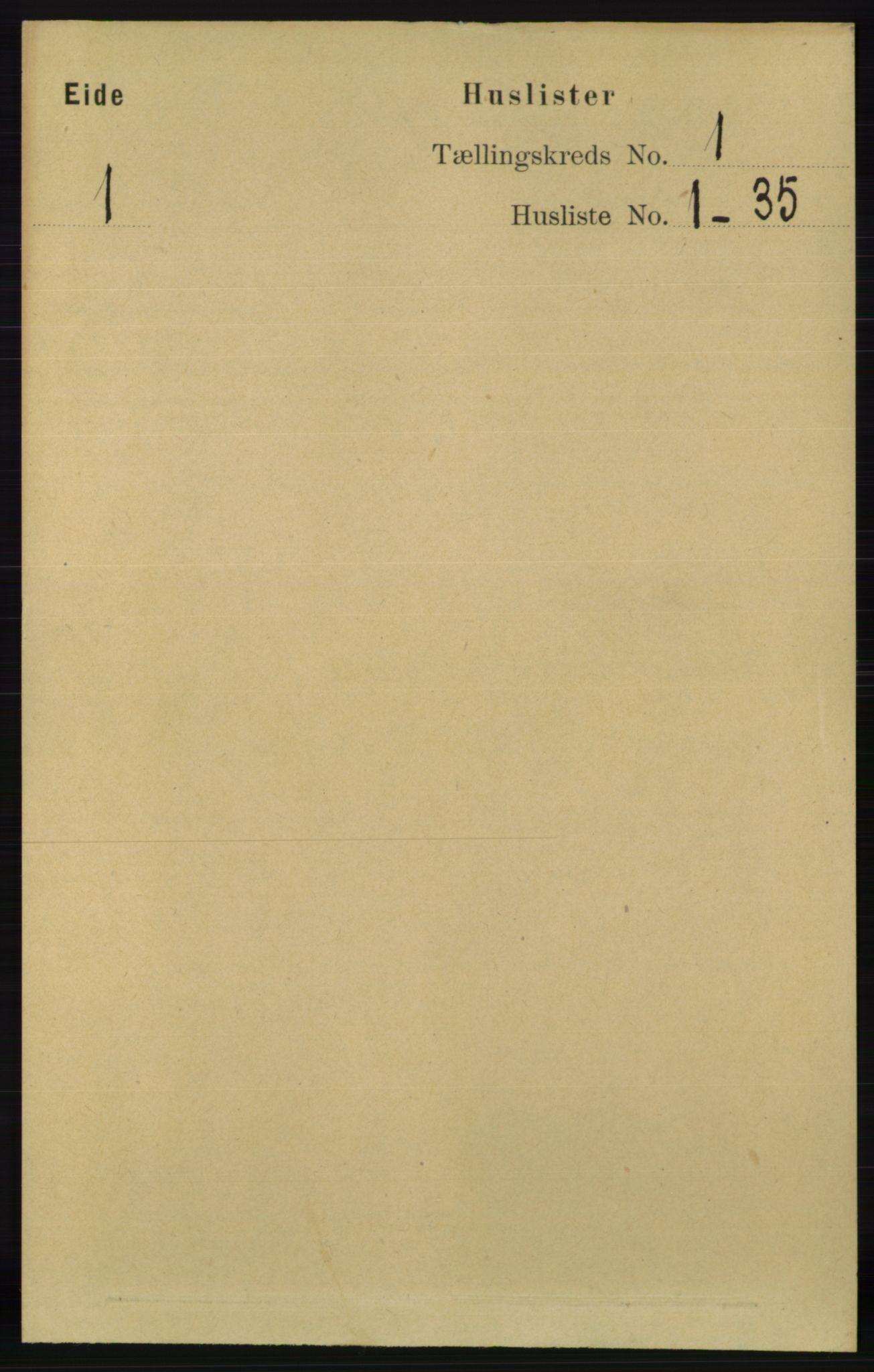 RA, Folketelling 1891 for 0925 Eide herred, 1891, s. 12