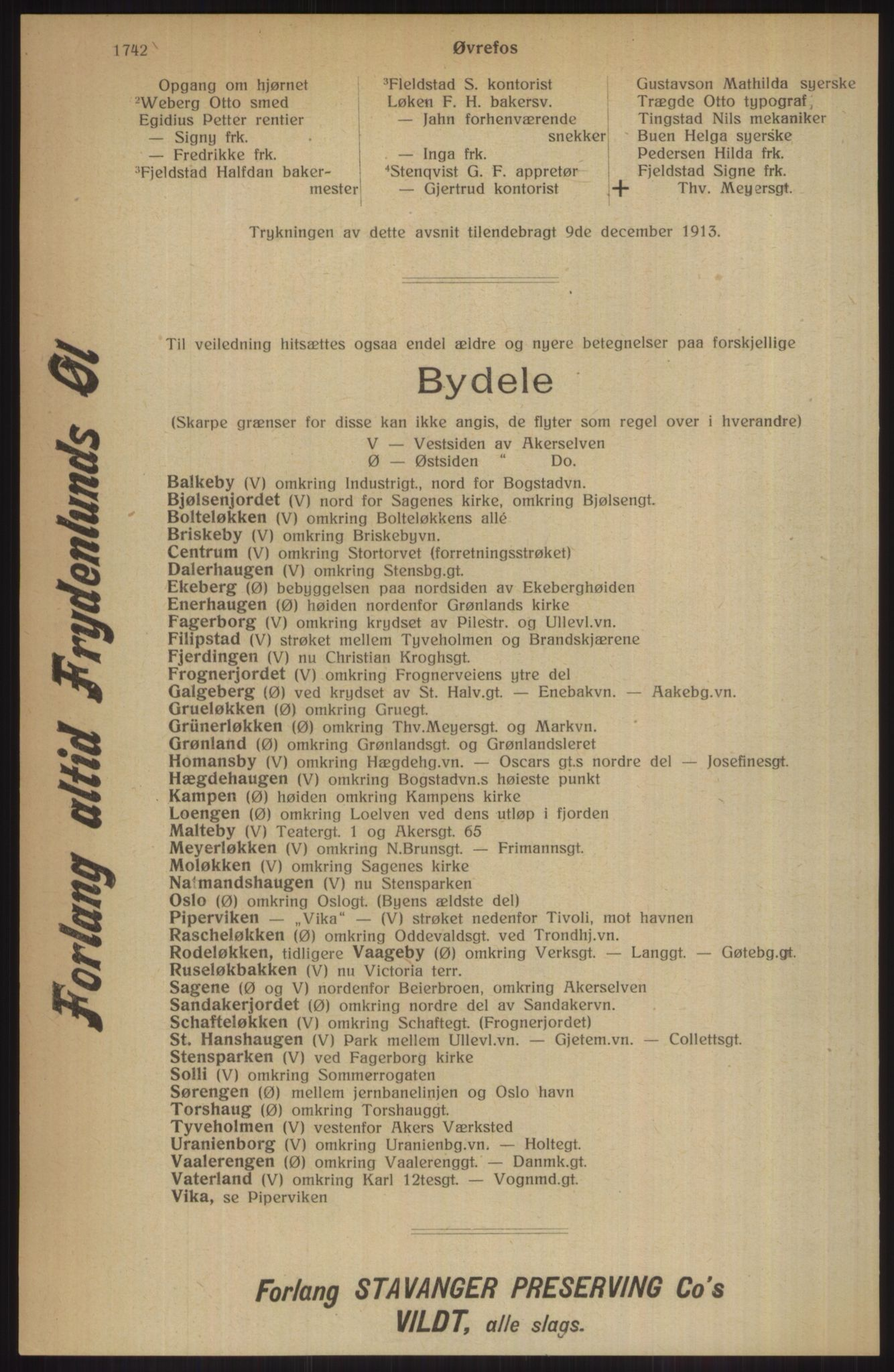 RA, Kristiania adressebok (publikasjon)*, 1914, s. 1742