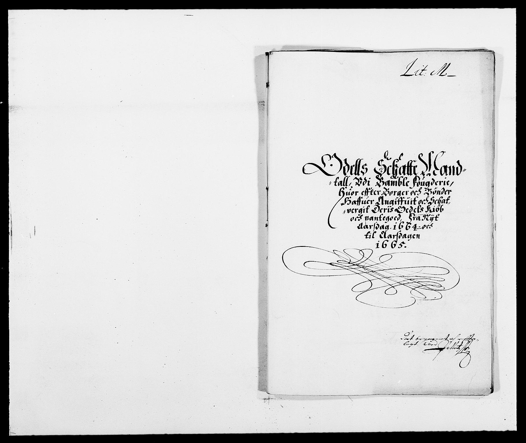 RA, Rentekammeret inntil 1814, Reviderte regnskaper, Fogderegnskap, R34/L2038: Fogderegnskap Bamble, 1662-1669, s. 80