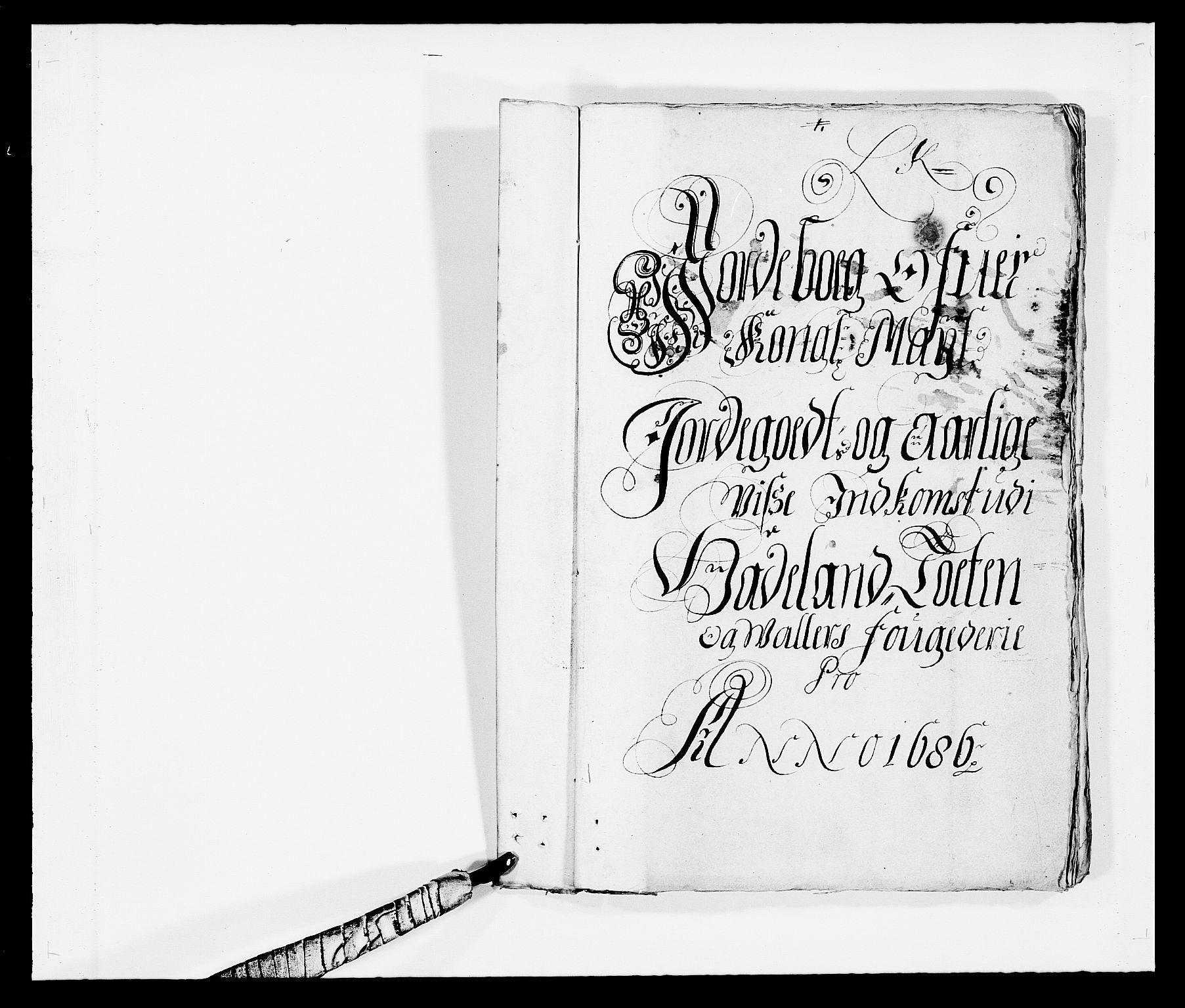 RA, Rentekammeret inntil 1814, Reviderte regnskaper, Fogderegnskap, R18/L1285: Fogderegnskap Hadeland, Toten og Valdres, 1686, s. 12