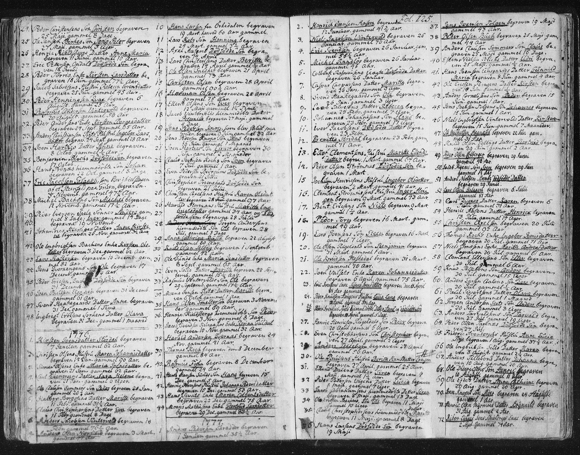 SAT, Ministerialprotokoller, klokkerbøker og fødselsregistre - Sør-Trøndelag, 681/L0926: Ministerialbok nr. 681A04, 1767-1797, s. 125