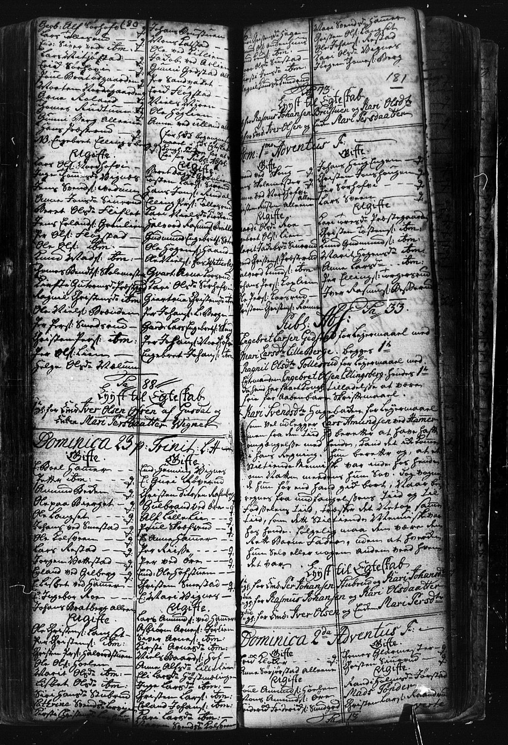 SAH, Fåberg prestekontor, Klokkerbok nr. 1, 1727-1767, s. 180-181