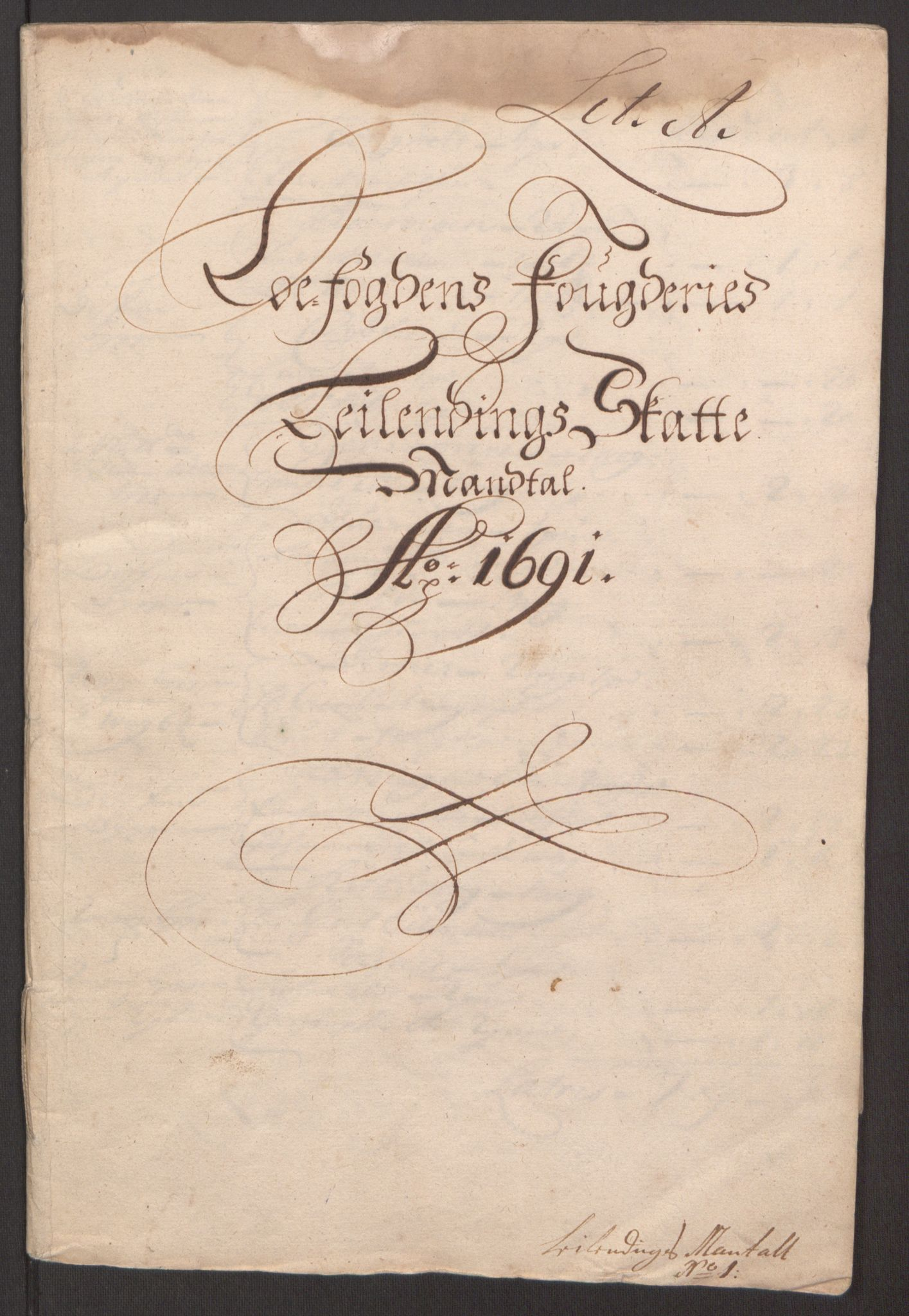 RA, Rentekammeret inntil 1814, Reviderte regnskaper, Fogderegnskap, R67/L4675: Fogderegnskap Vesterålen, Andenes og Lofoten, 1691-1693, s. 8