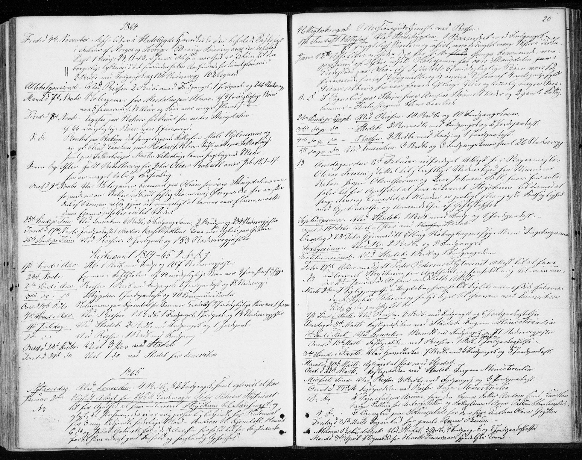 SAT, Ministerialprotokoller, klokkerbøker og fødselsregistre - Sør-Trøndelag, 646/L0612: Ministerialbok nr. 646A10, 1858-1869, s. 20