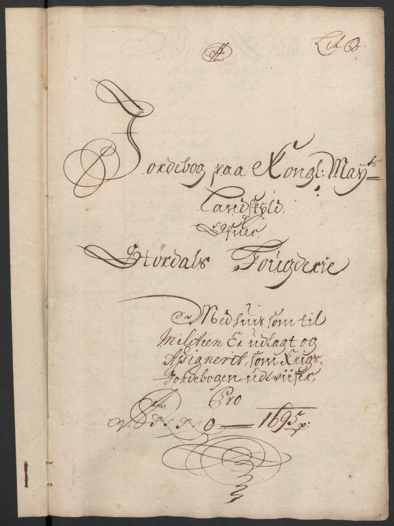 RA, Rentekammeret inntil 1814, Reviderte regnskaper, Fogderegnskap, R62/L4187: Fogderegnskap Stjørdal og Verdal, 1695, s. 48