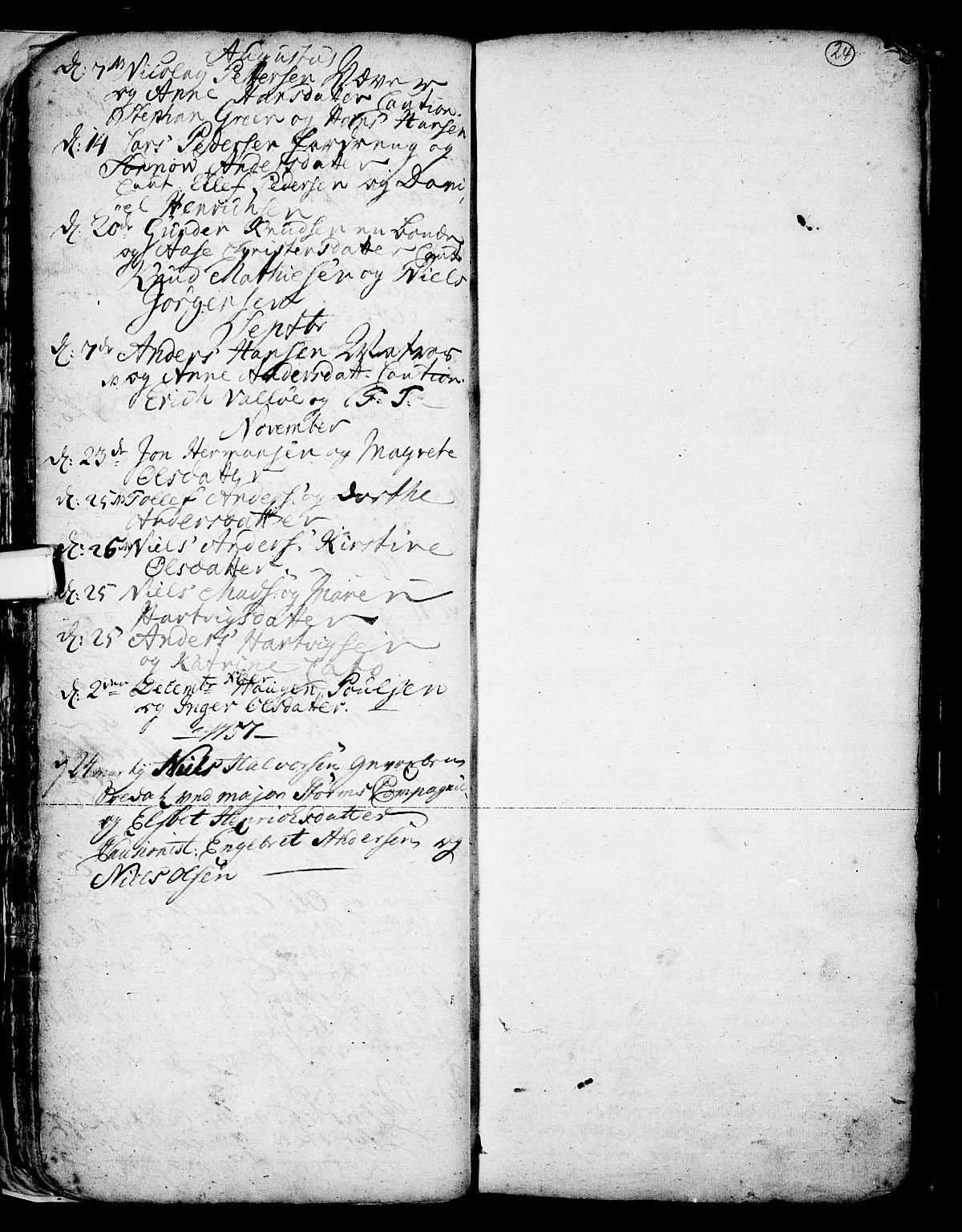 SAKO, Skien kirkebøker, F/Fa/L0002: Ministerialbok nr. 2, 1716-1757, s. 24