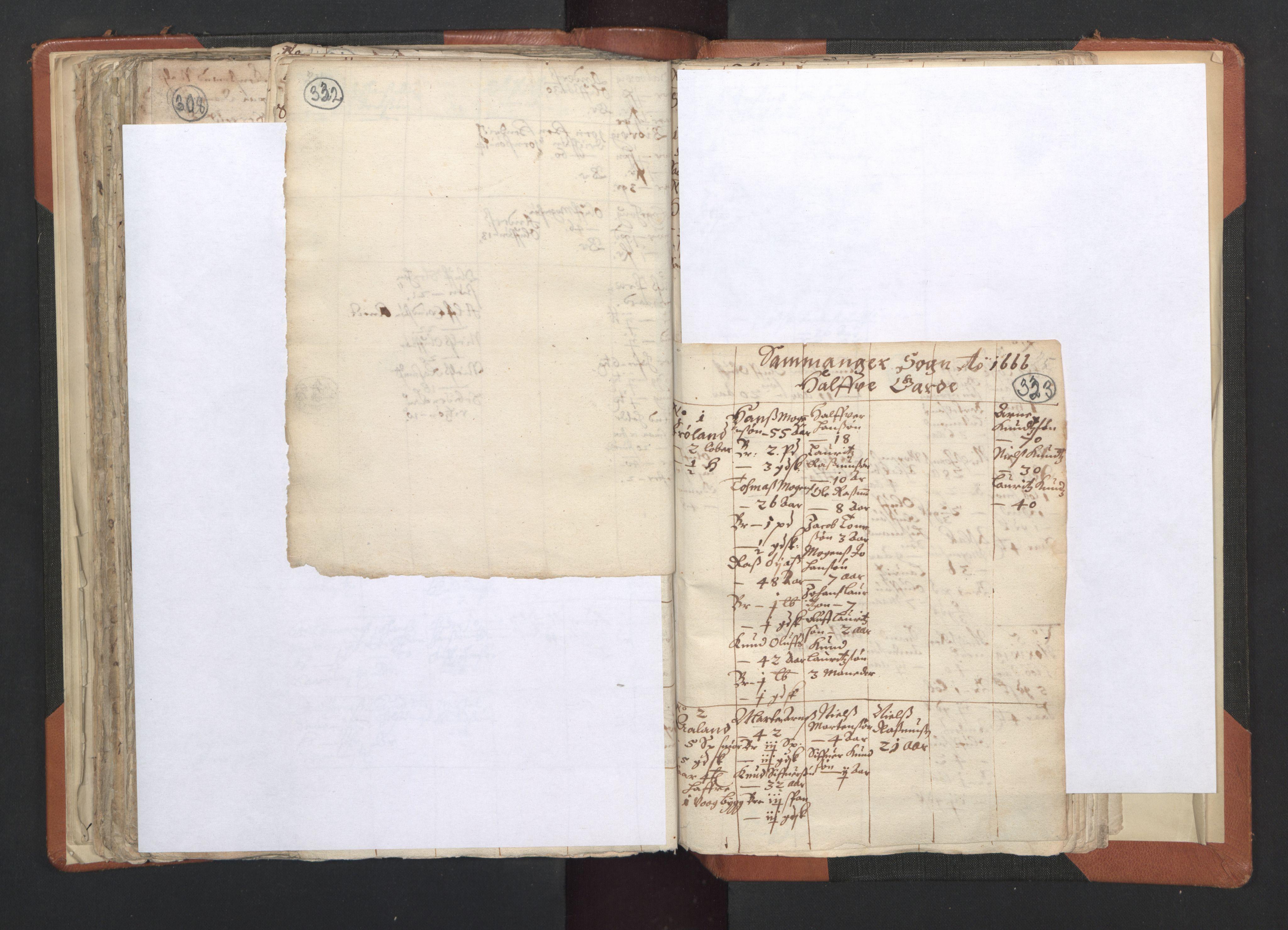 RA, Sogneprestenes manntall 1664-1666, nr. 20: Sunnhordland prosti, 1664-1666, s. 332-333