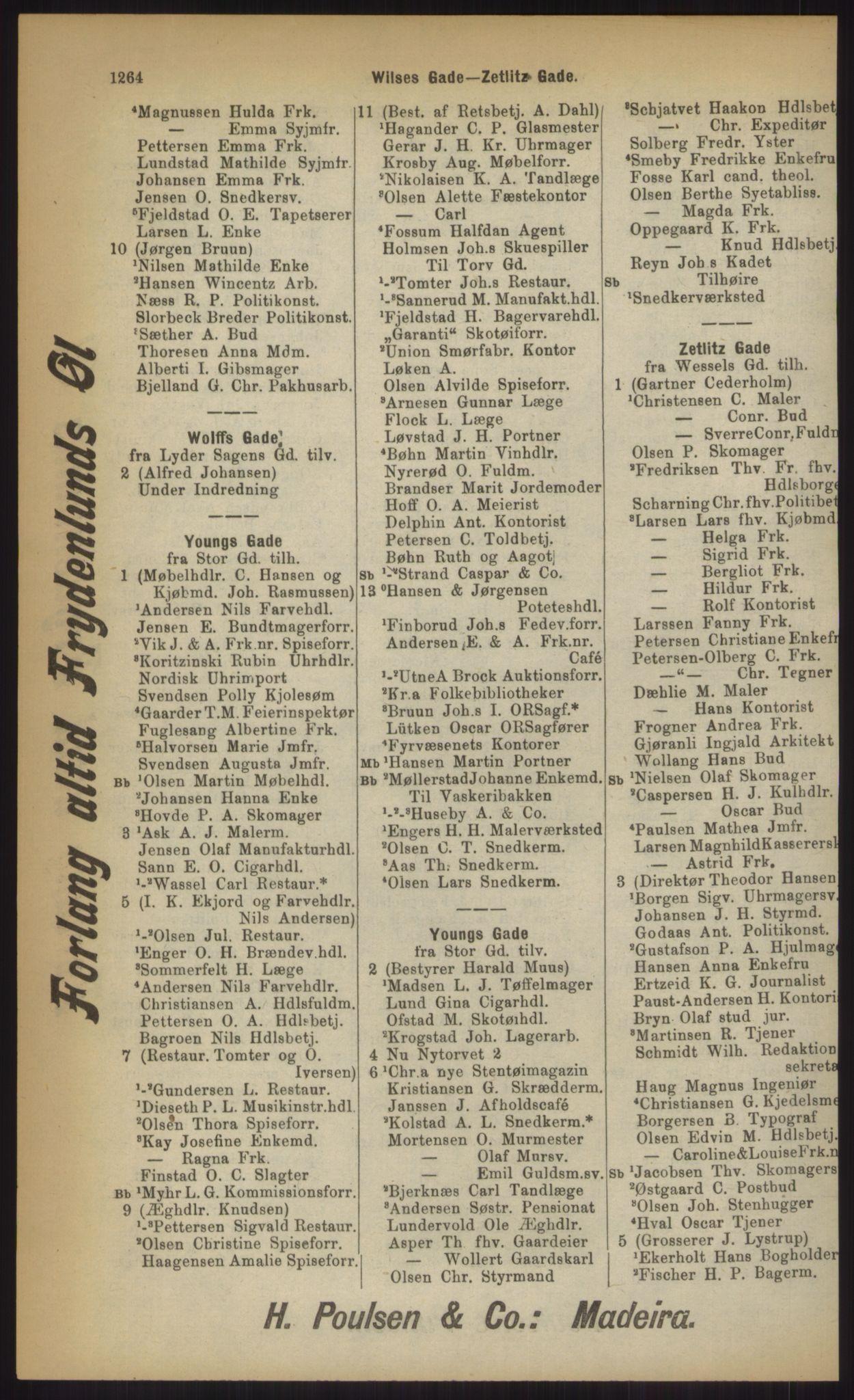 RA, Kristiania adressebok (publikasjon)*, 1903, s. 1264
