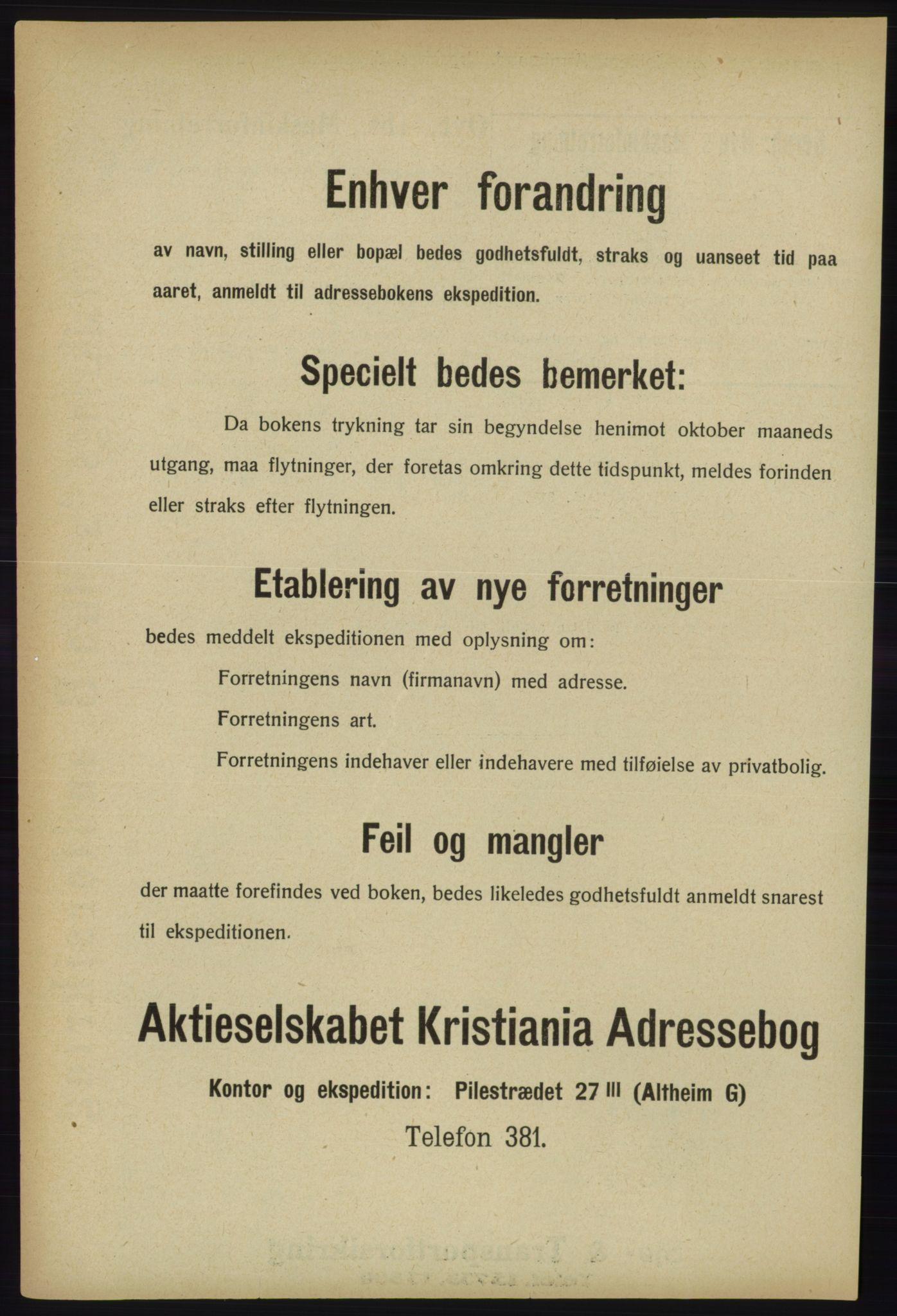 PUBL, Kristiania/Oslo adressebok, 1918, s. 1532