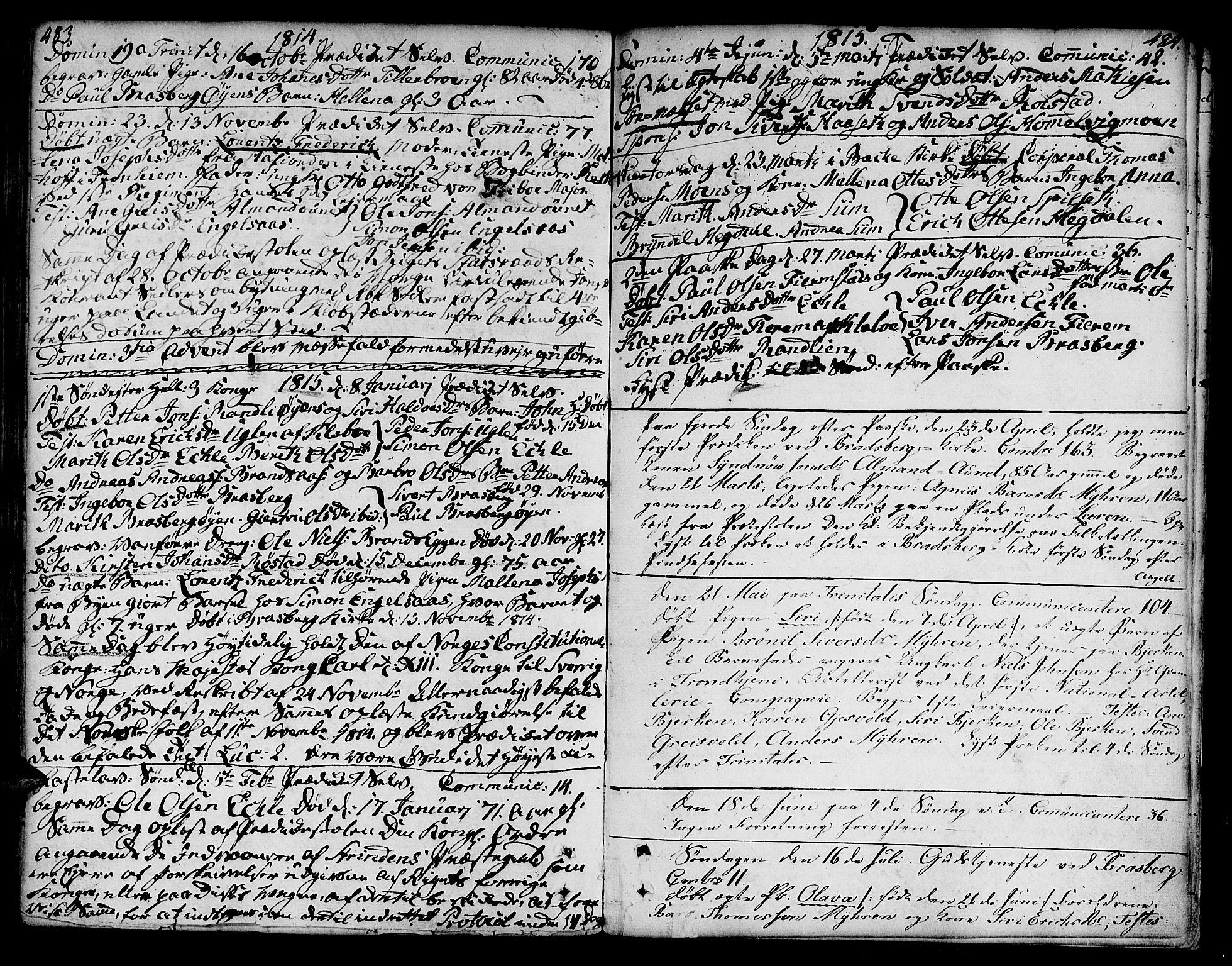 SAT, Ministerialprotokoller, klokkerbøker og fødselsregistre - Sør-Trøndelag, 606/L0282: Ministerialbok nr. 606A02 /3, 1781-1817, s. 483-484