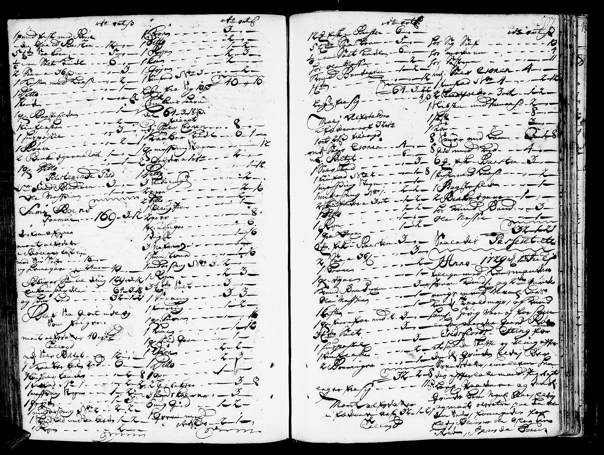 SAT, Romsdal sorenskriveri, 3/3A/L0006: Skifteprotokoll, 1718-1730, s. 596b-597a