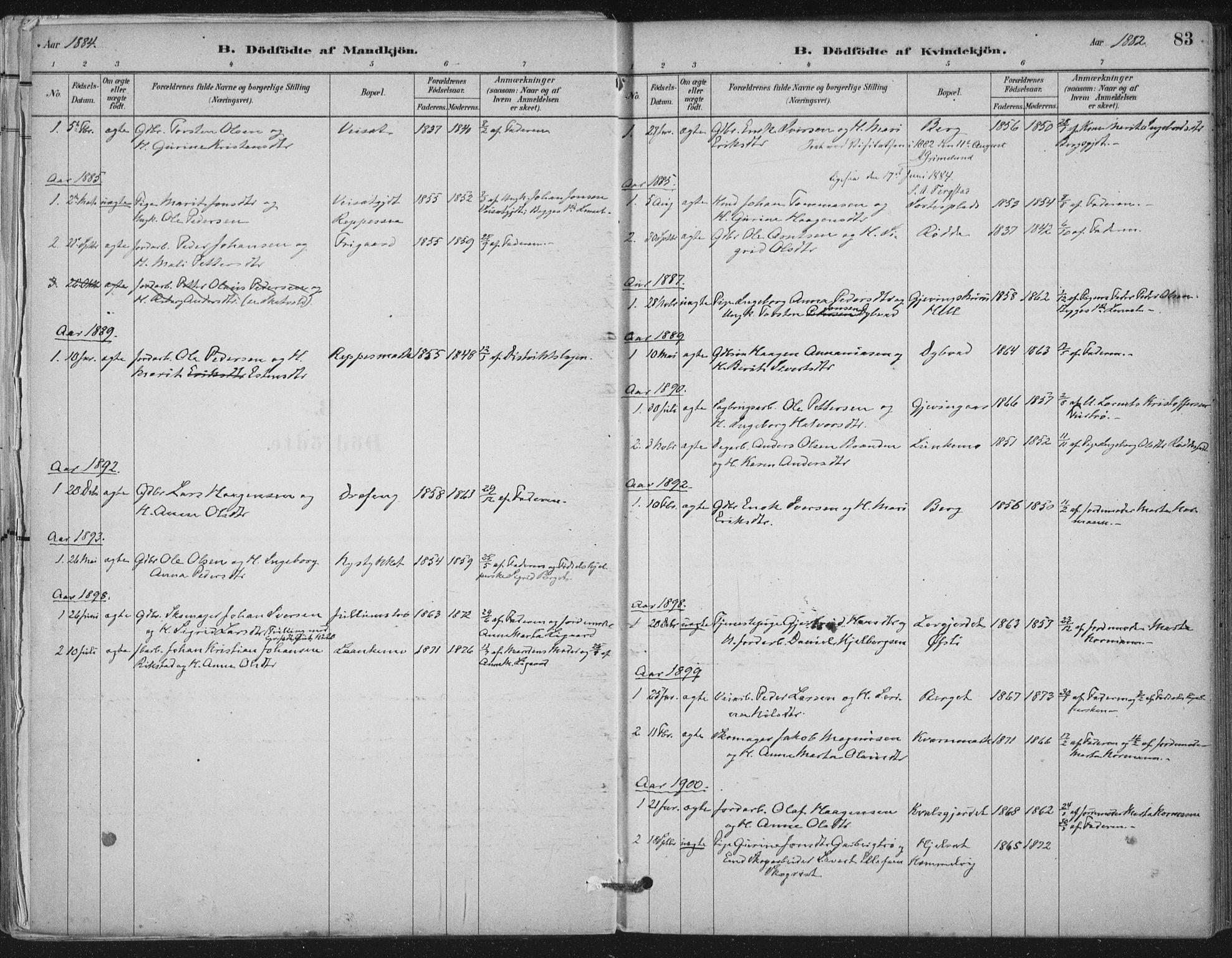 SAT, Ministerialprotokoller, klokkerbøker og fødselsregistre - Nord-Trøndelag, 710/L0095: Ministerialbok nr. 710A01, 1880-1914, s. 83