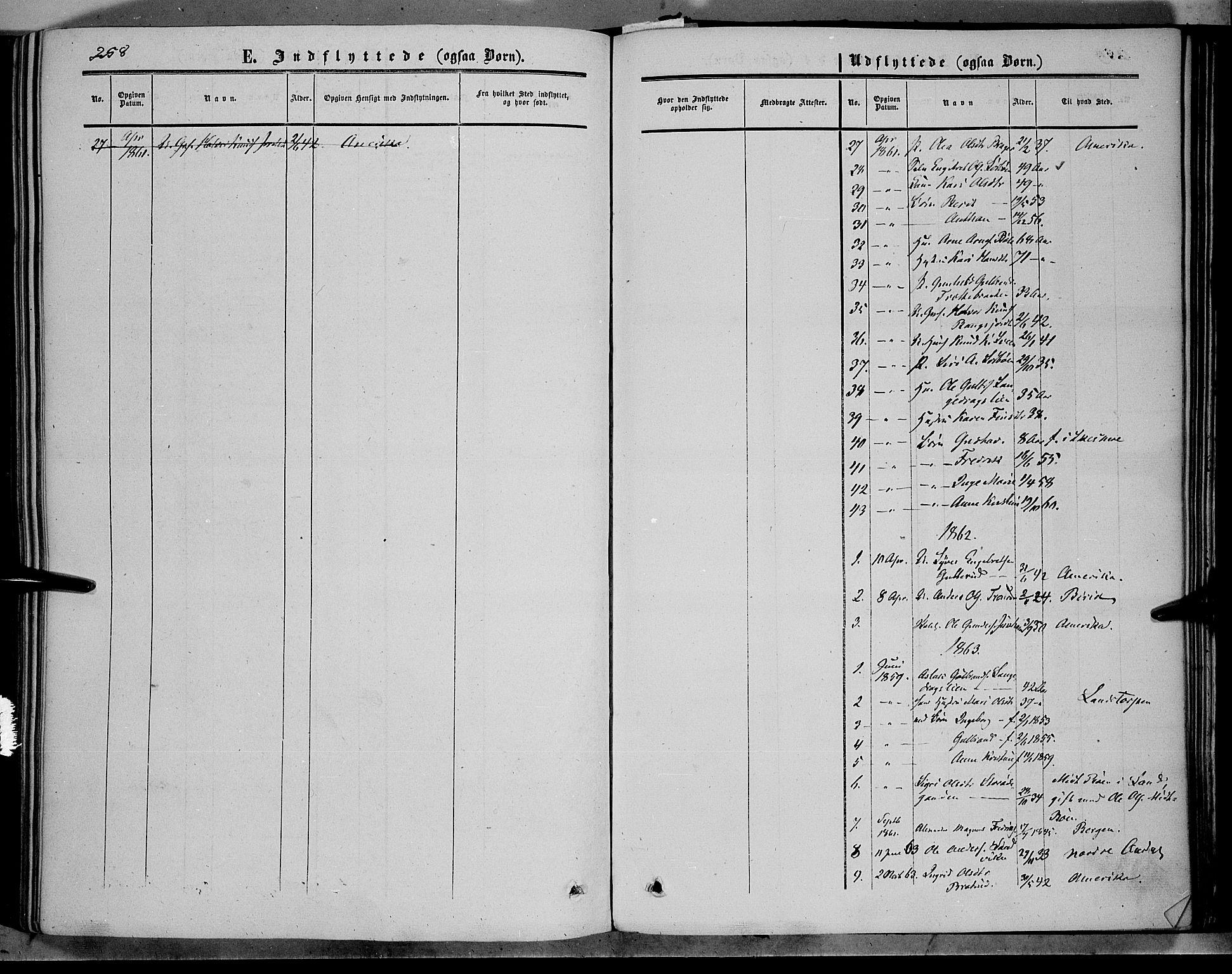 SAH, Sør-Aurdal prestekontor, Ministerialbok nr. 5, 1849-1876, s. 258