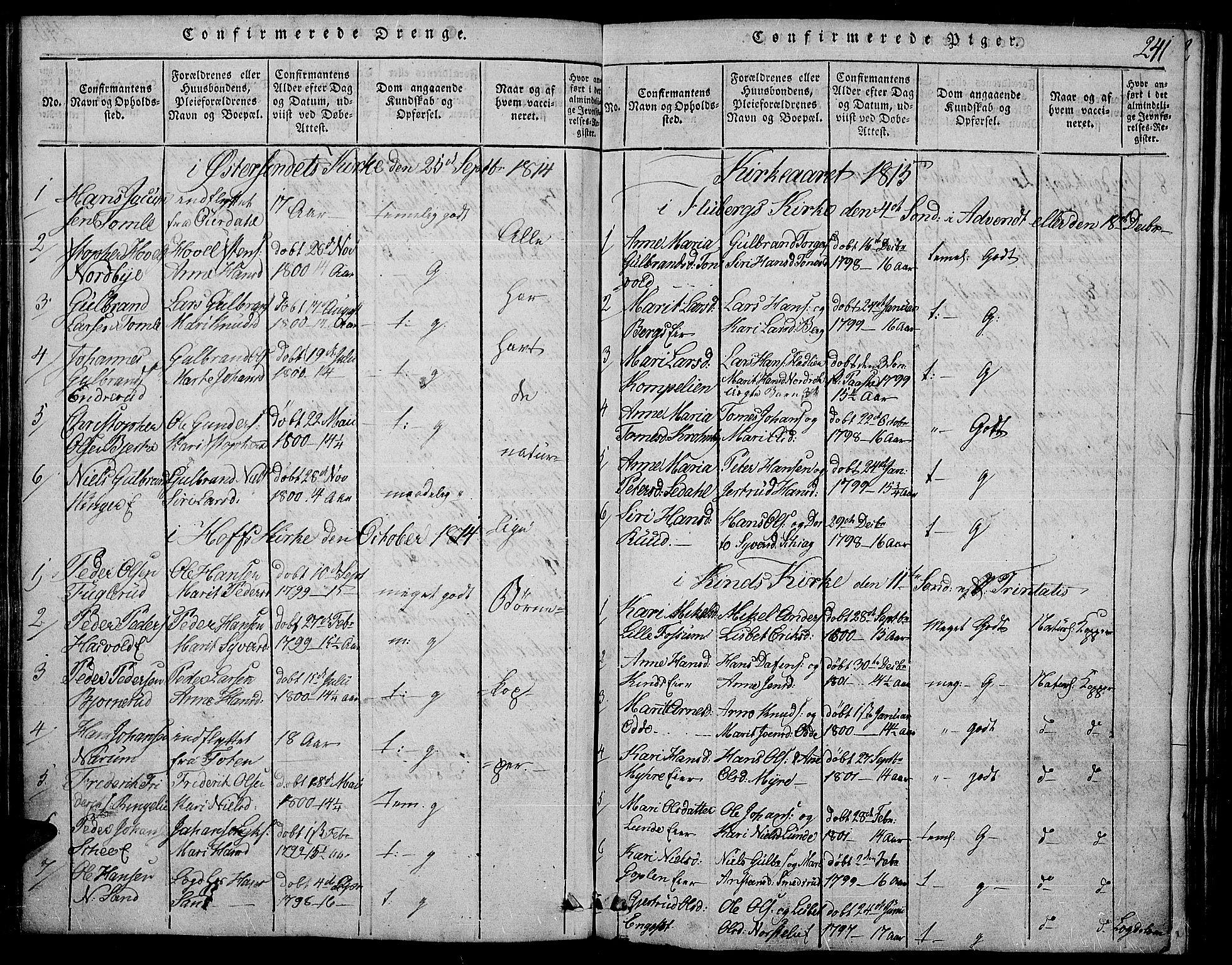 SAH, Land prestekontor, Ministerialbok nr. 7, 1814-1830, s. 241