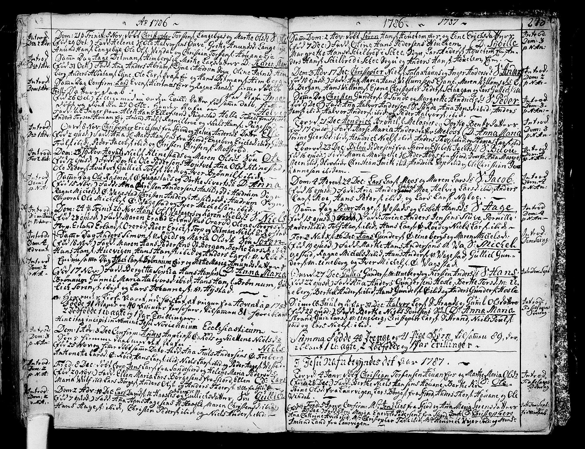 SAKO, Sandar kirkebøker, F/Fa/L0002: Ministerialbok nr. 2, 1733-1788, s. 278