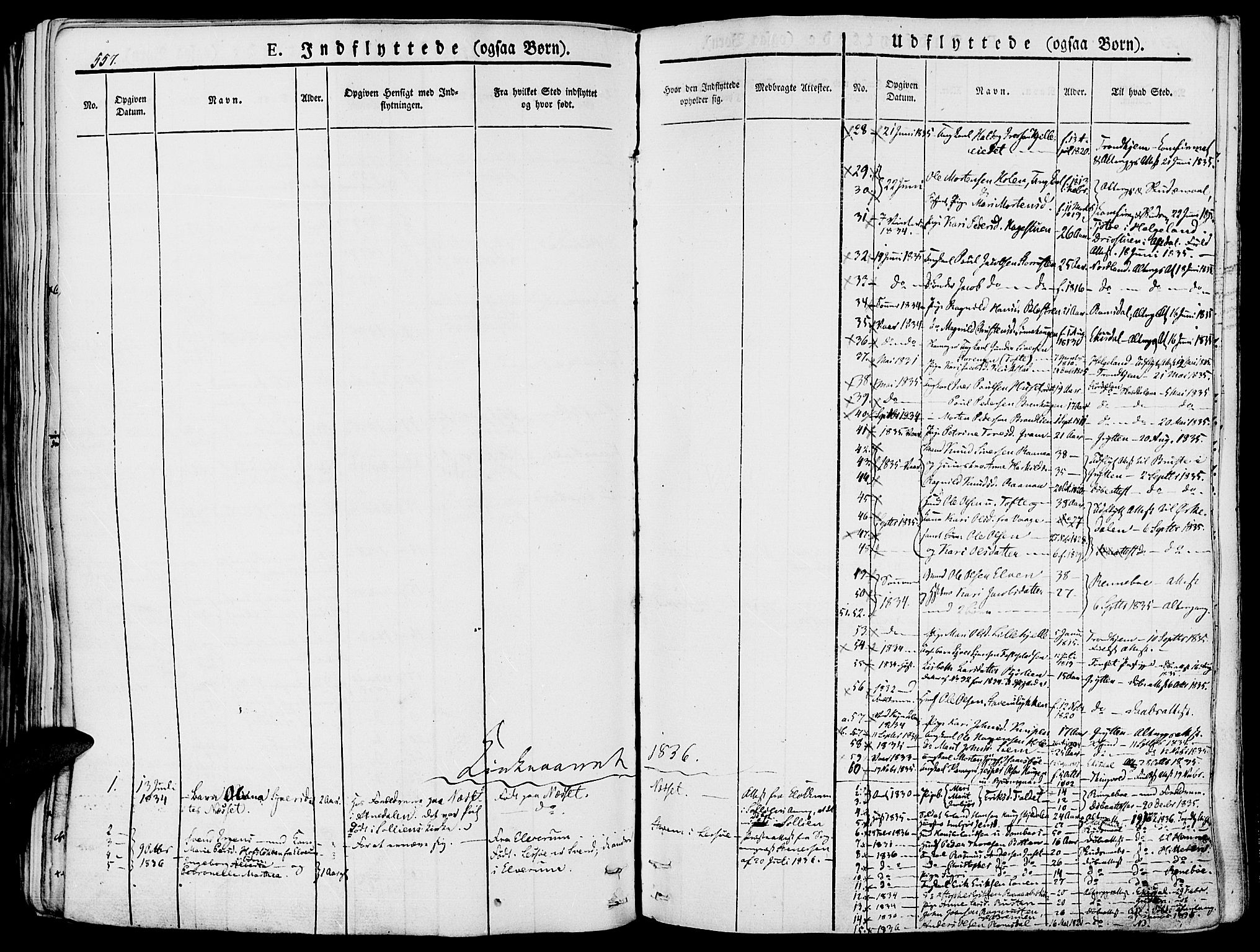 SAH, Lesja prestekontor, Ministerialbok nr. 5, 1830-1842, s. 557