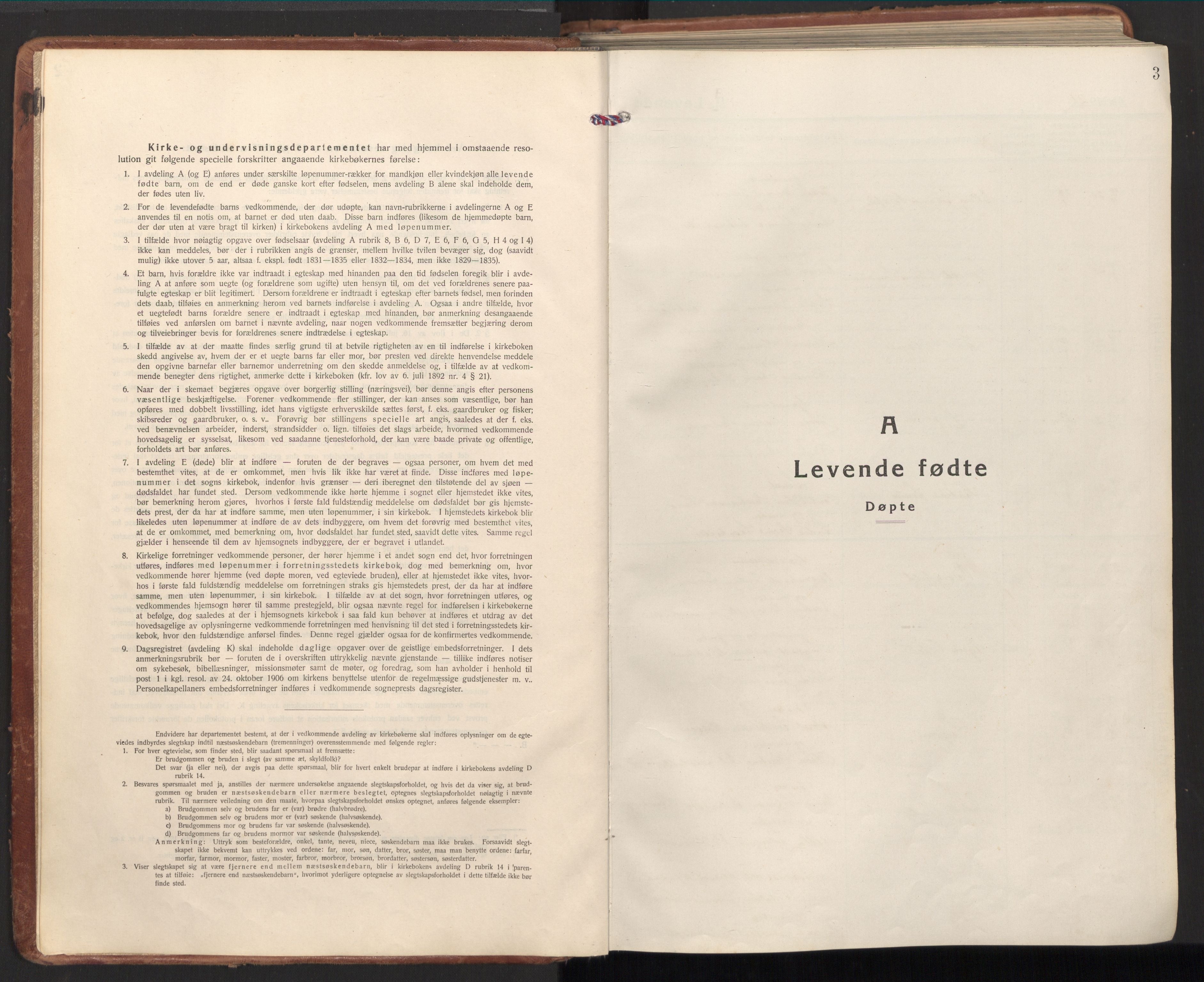 SAT, Ministerialprotokoller, klokkerbøker og fødselsregistre - Nord-Trøndelag, 784/L0678: Ministerialbok nr. 784A13, 1921-1938, s. 3