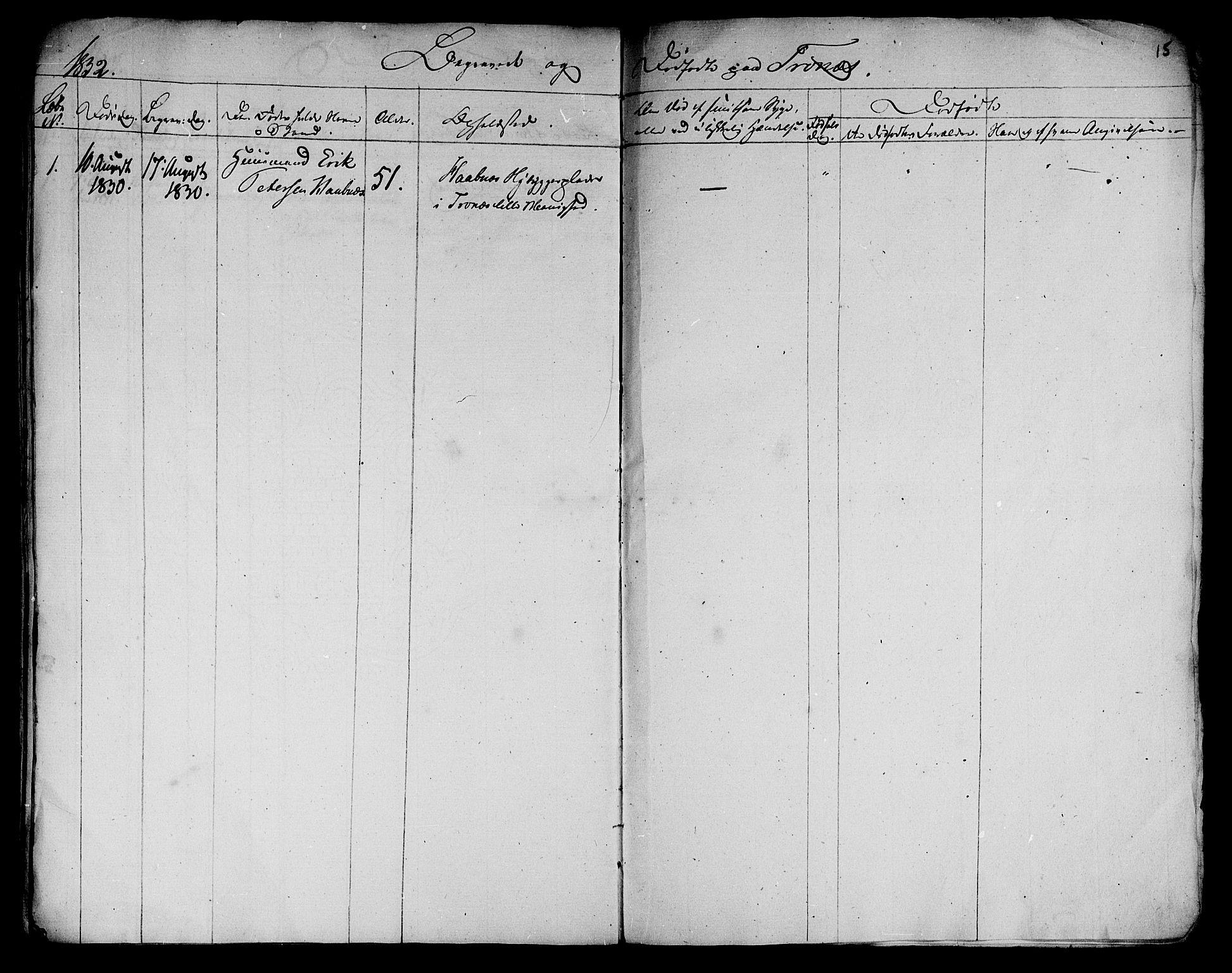 SAT, Ministerialprotokoller, klokkerbøker og fødselsregistre - Nord-Trøndelag, 762/L0536: Ministerialbok nr. 762A01 /2, 1830-1832, s. 15