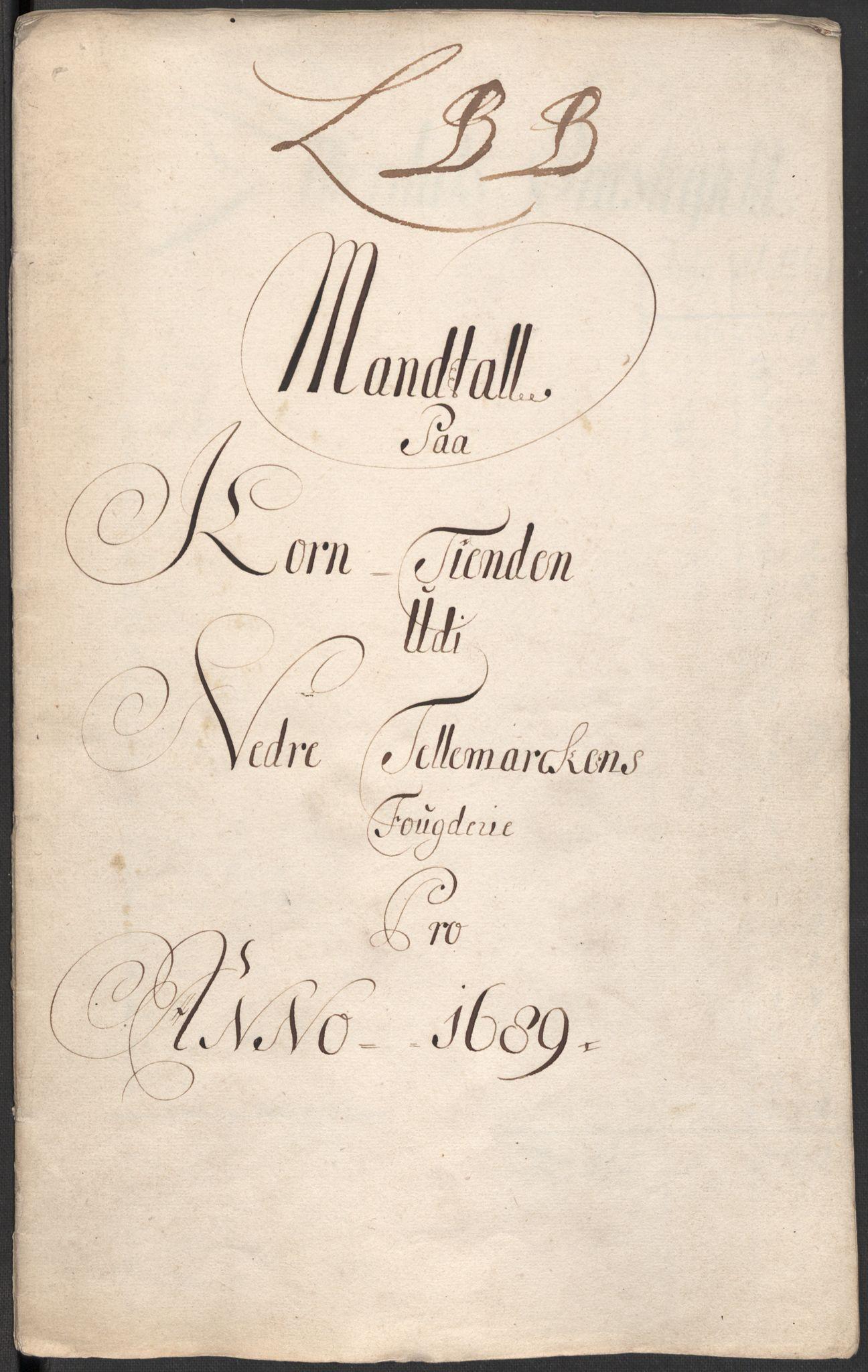 RA, Rentekammeret inntil 1814, Reviderte regnskaper, Fogderegnskap, R35/L2088: Fogderegnskap Øvre og Nedre Telemark, 1687-1689, s. 15