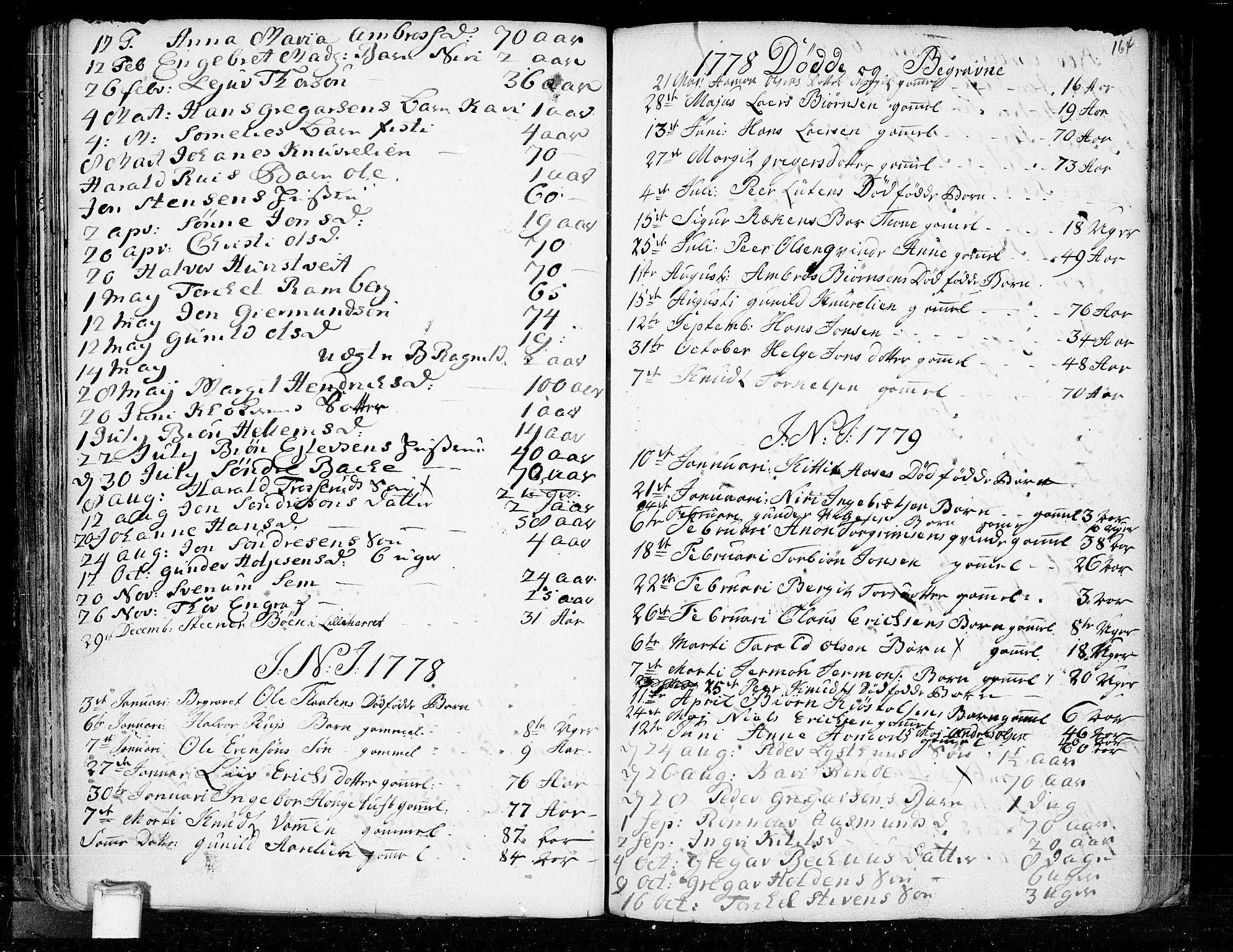 SAKO, Heddal kirkebøker, F/Fa/L0003: Ministerialbok nr. I 3, 1723-1783, s. 164