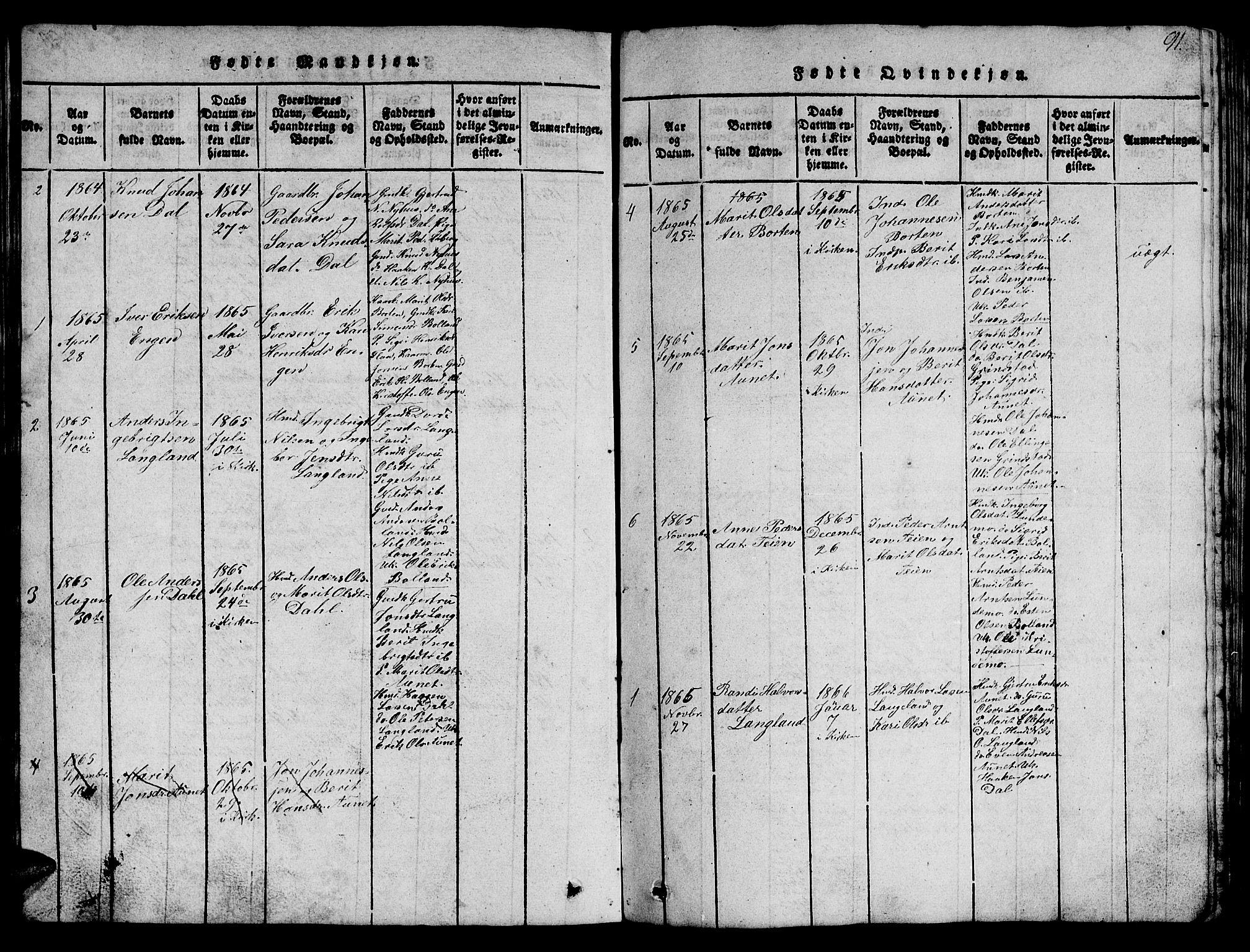 SAT, Ministerialprotokoller, klokkerbøker og fødselsregistre - Sør-Trøndelag, 693/L1121: Klokkerbok nr. 693C02, 1816-1869, s. 91