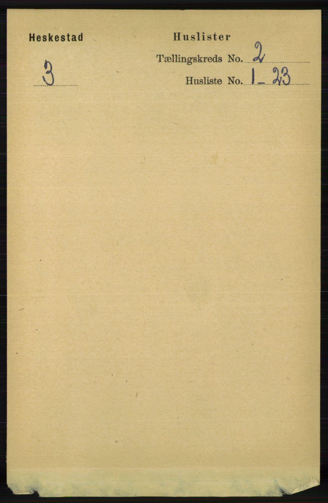 RA, Folketelling 1891 for 1113 Heskestad herred, 1891, s. 245