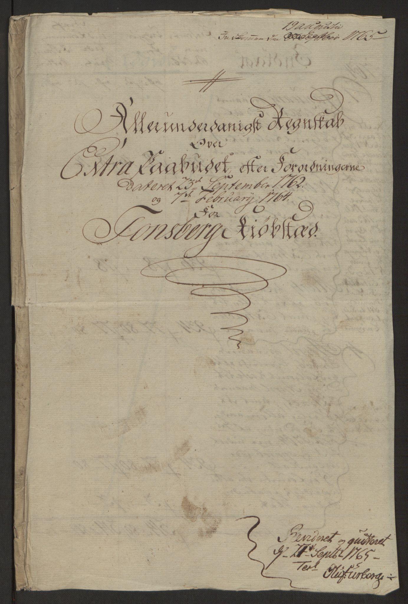 RA, Rentekammeret inntil 1814, Reviderte regnskaper, Byregnskaper, R/Rh/L0162: [H4] Kontribusjonsregnskap, 1762-1772, s. 120