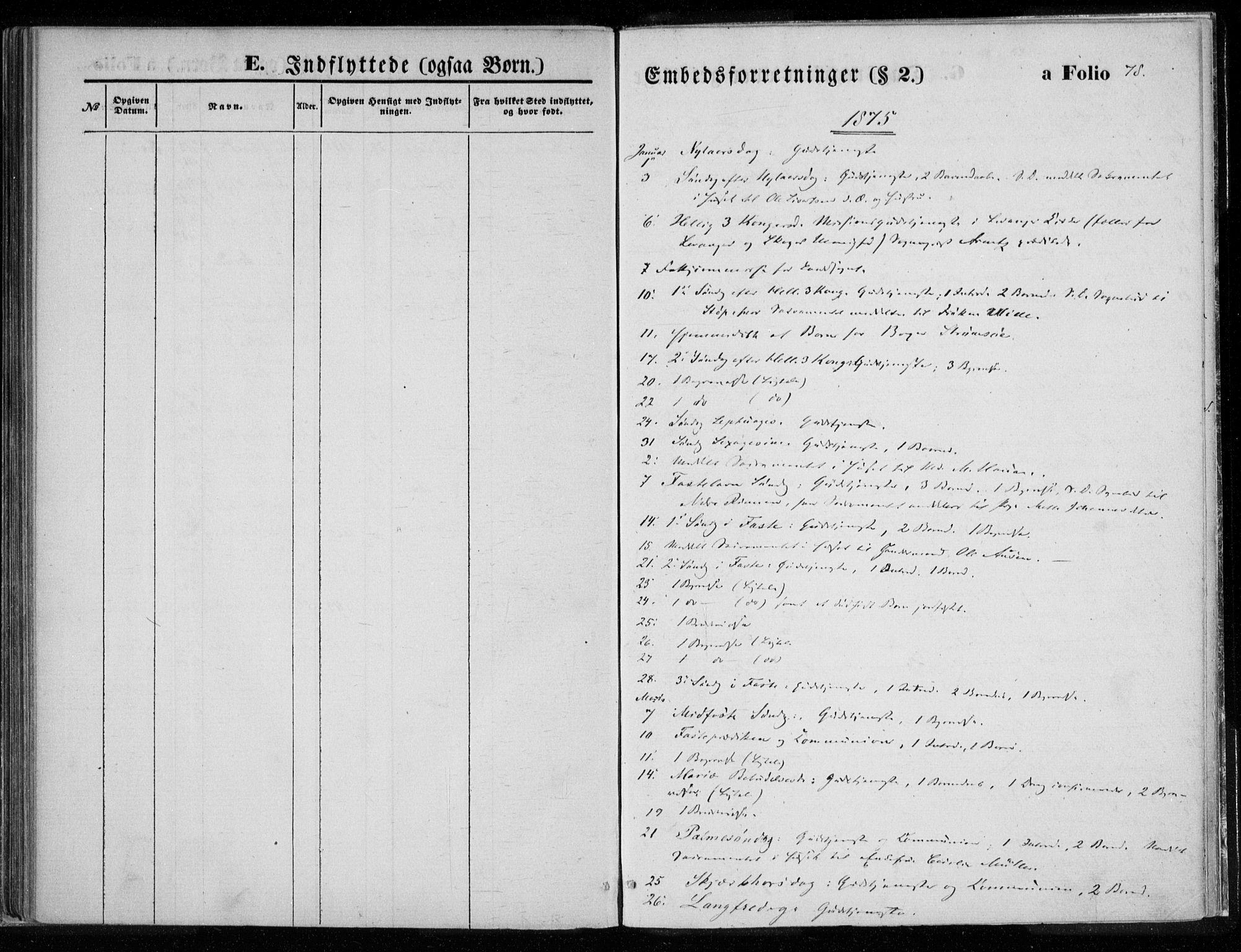 SAT, Ministerialprotokoller, klokkerbøker og fødselsregistre - Nord-Trøndelag, 720/L0187: Ministerialbok nr. 720A04 /1, 1875-1879, s. 78