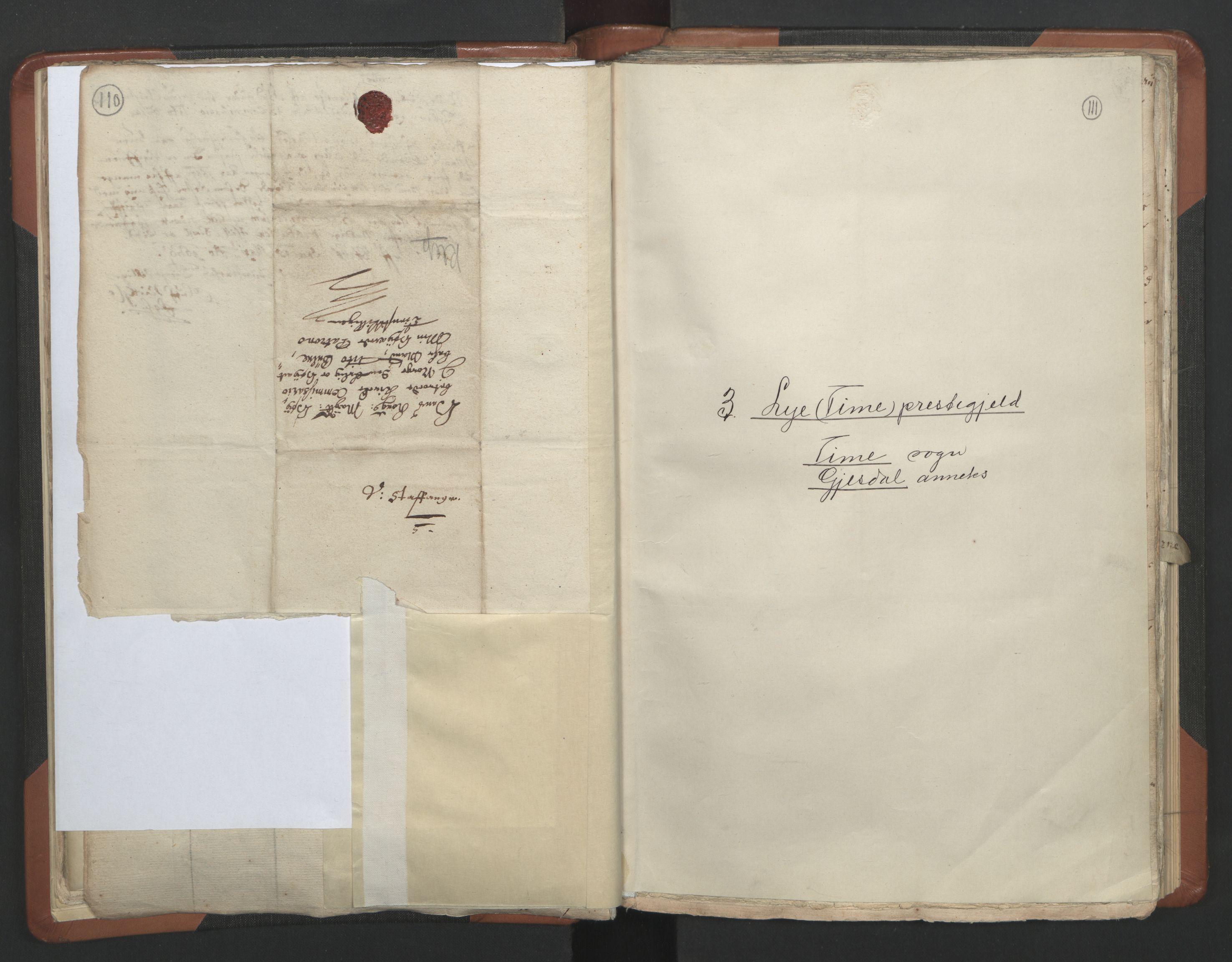 RA, Sogneprestenes manntall 1664-1666, nr. 17: Jæren prosti og Dalane prosti, 1664-1666, s. 110-111