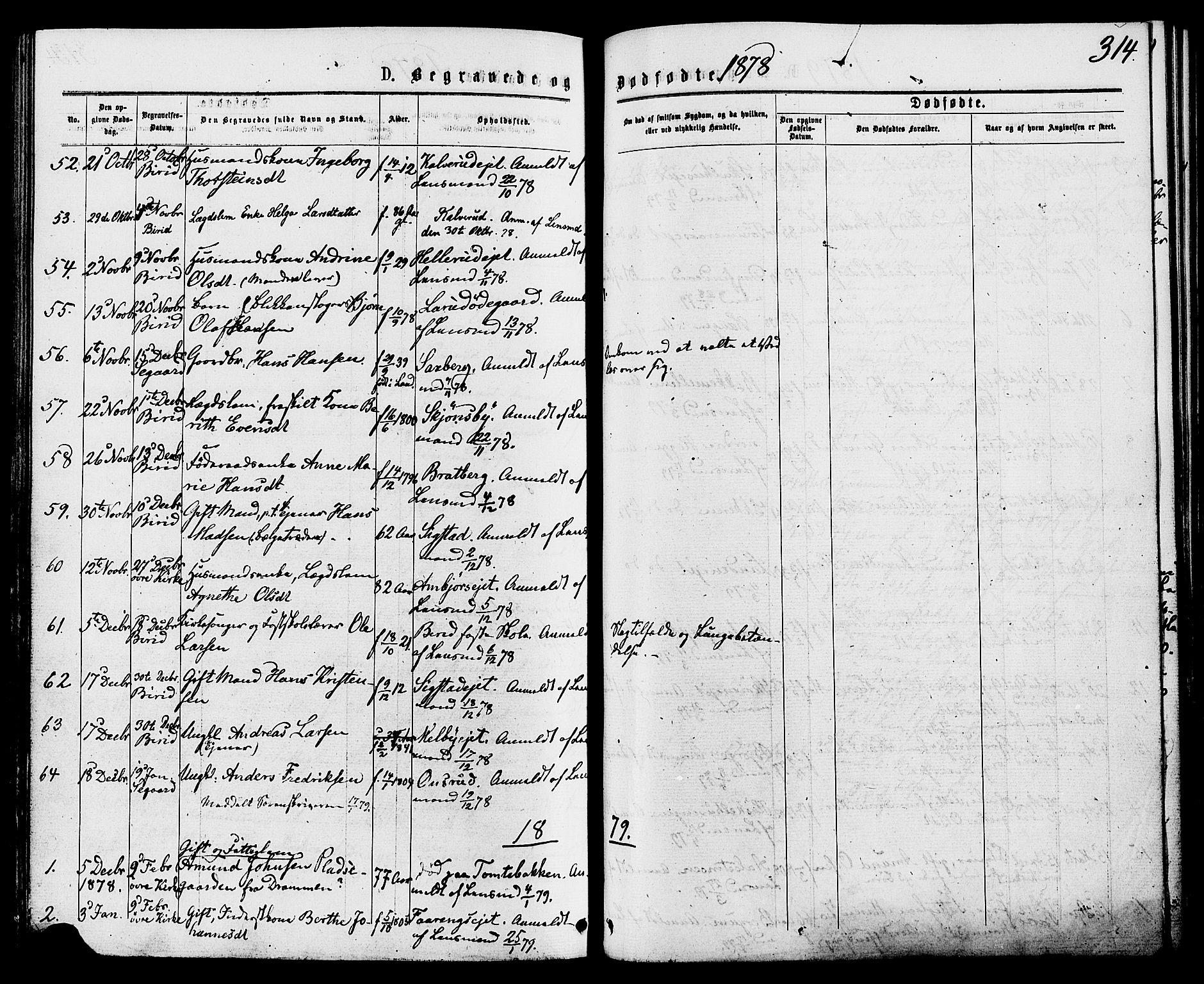 SAH, Biri prestekontor, Ministerialbok nr. 6, 1877-1886, s. 314
