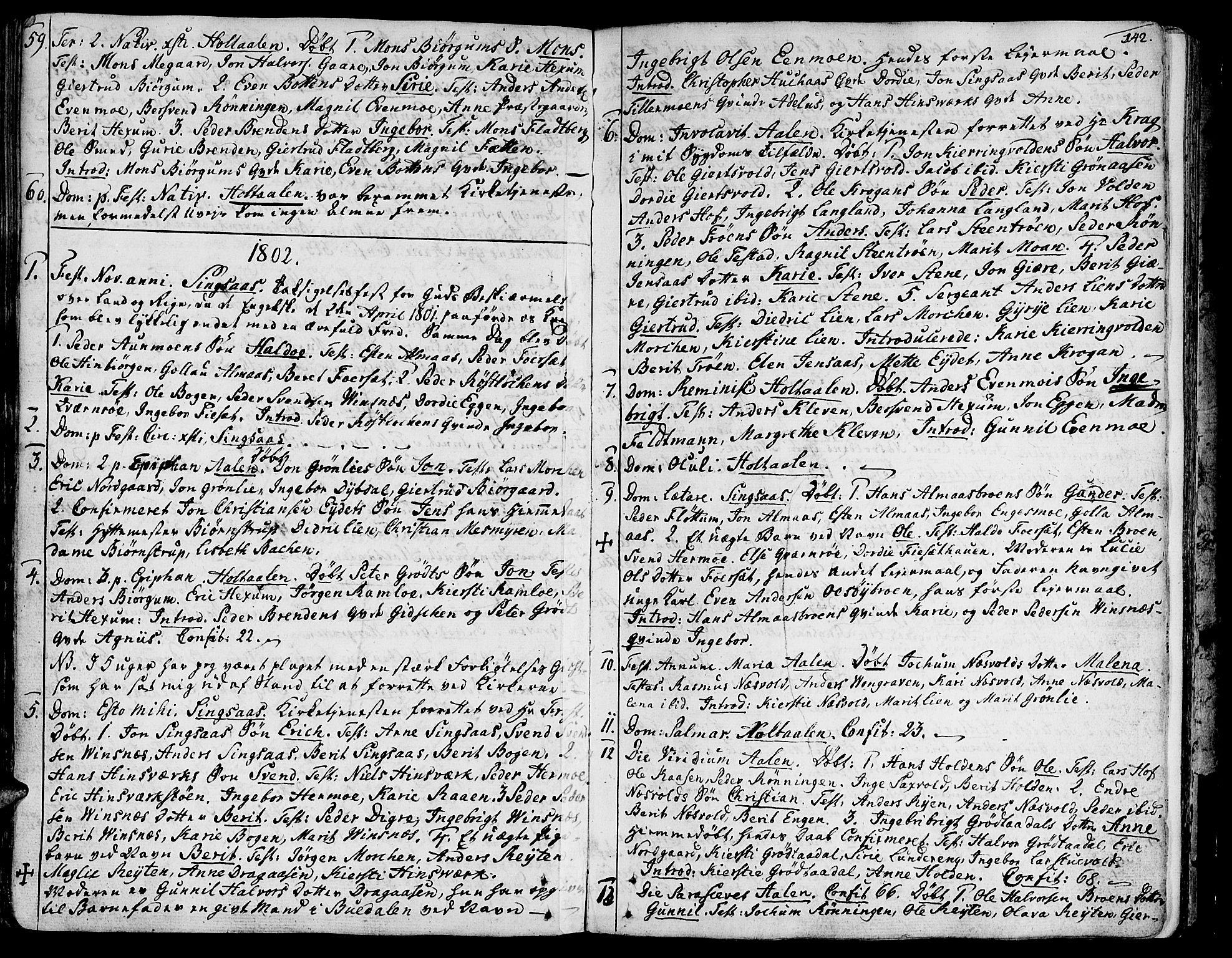 SAT, Ministerialprotokoller, klokkerbøker og fødselsregistre - Sør-Trøndelag, 685/L0952: Ministerialbok nr. 685A01, 1745-1804, s. 142