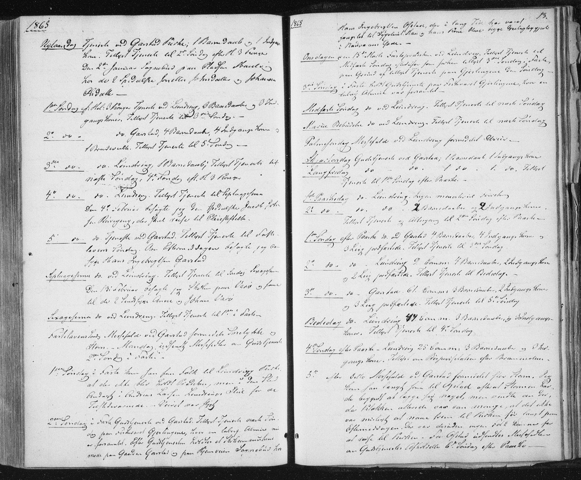 SAT, Ministerialprotokoller, klokkerbøker og fødselsregistre - Nord-Trøndelag, 784/L0670: Ministerialbok nr. 784A05, 1860-1876, s. 13